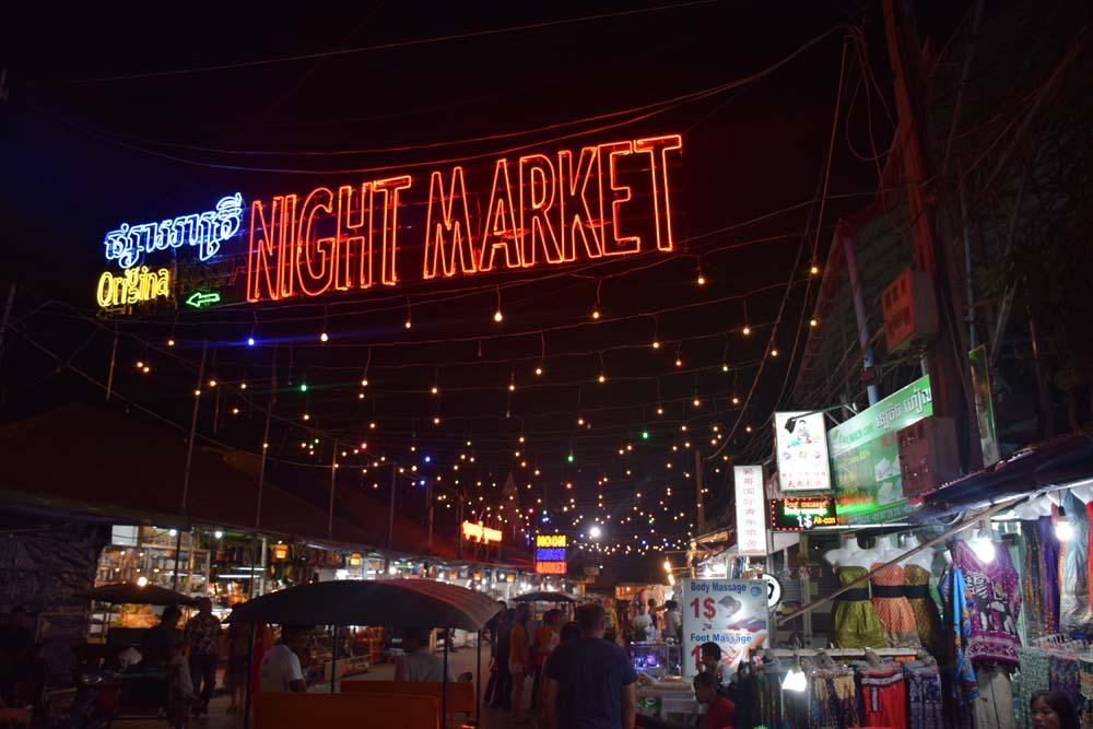 night market siem reap angkor cambodia