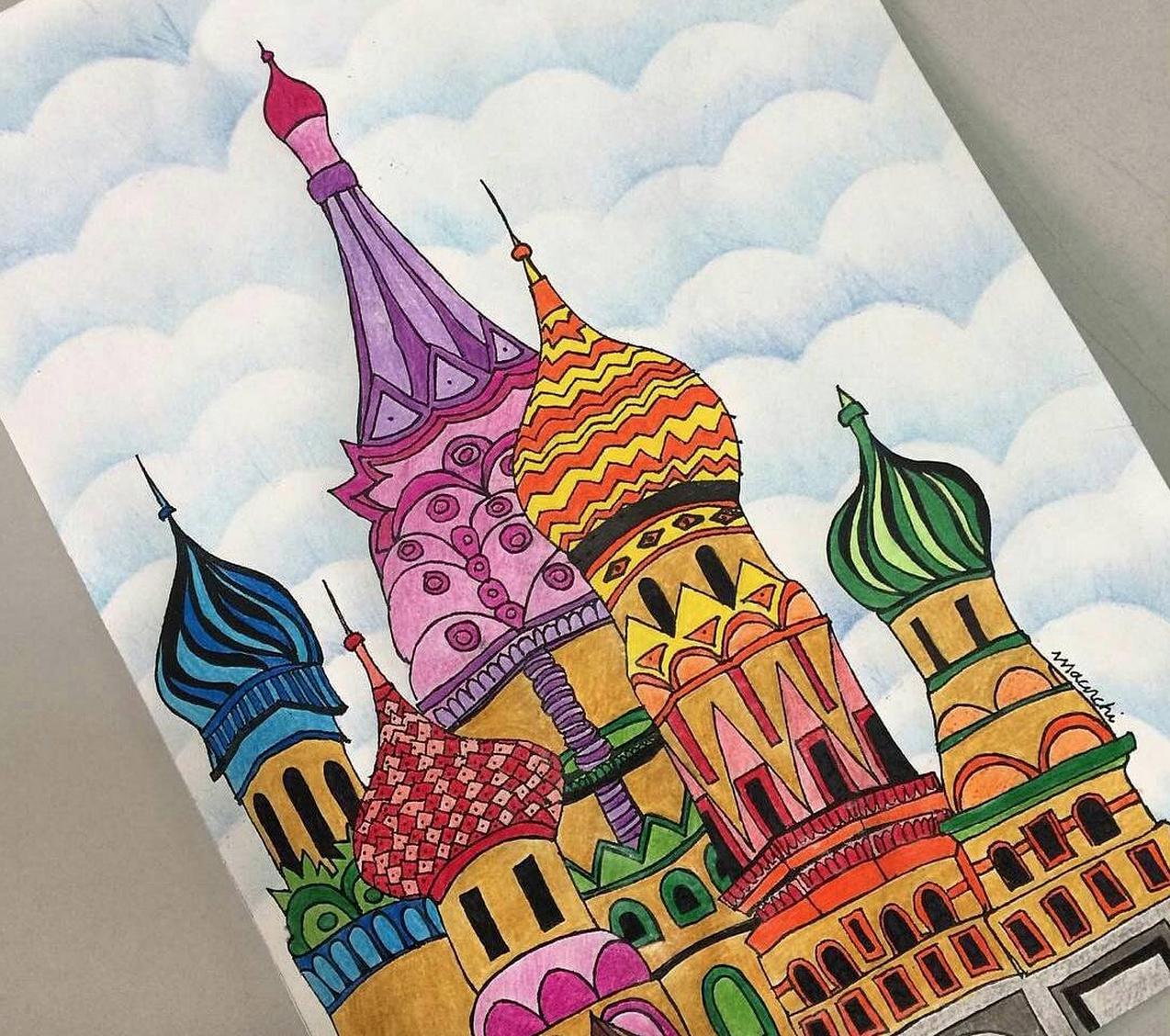 catedral de sao basilio moscou destinos para colorir