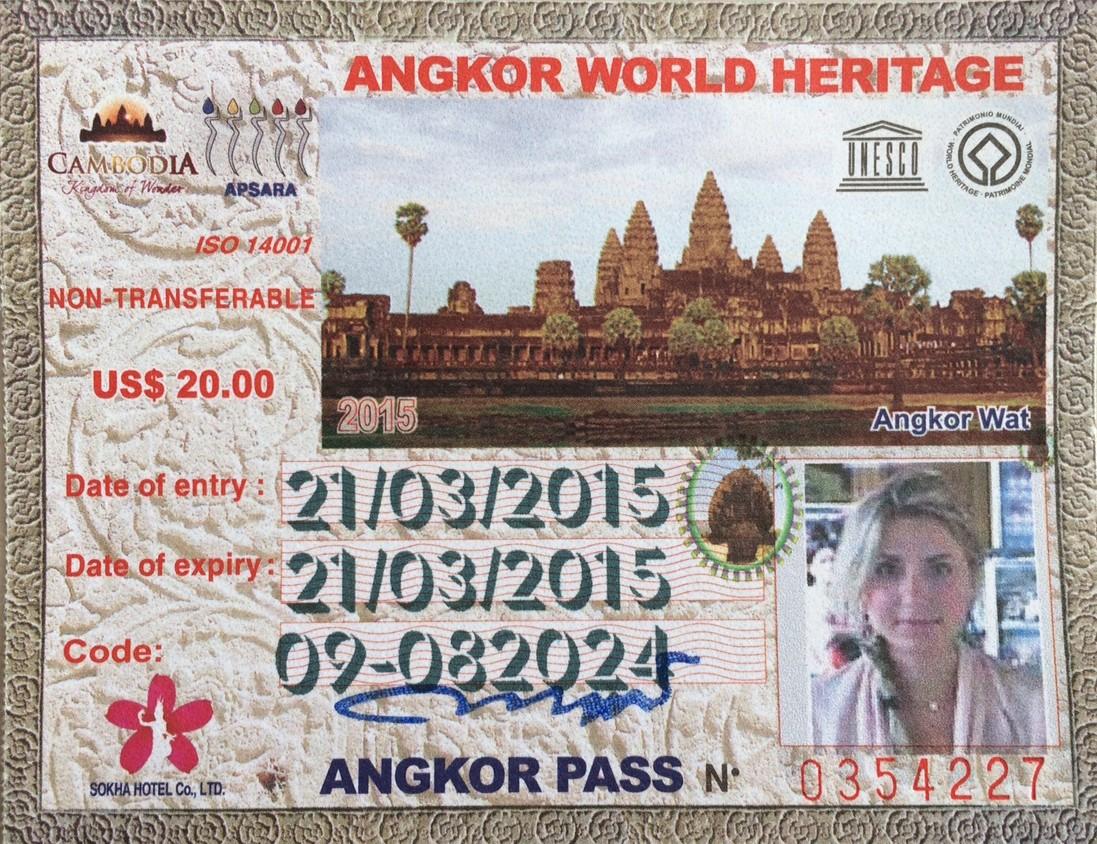 ingresso ticket angkor temples