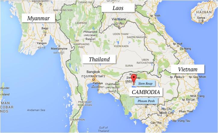 LOCALIZAÇÃO CAMBOJA CAMBODIA ONDE FICA