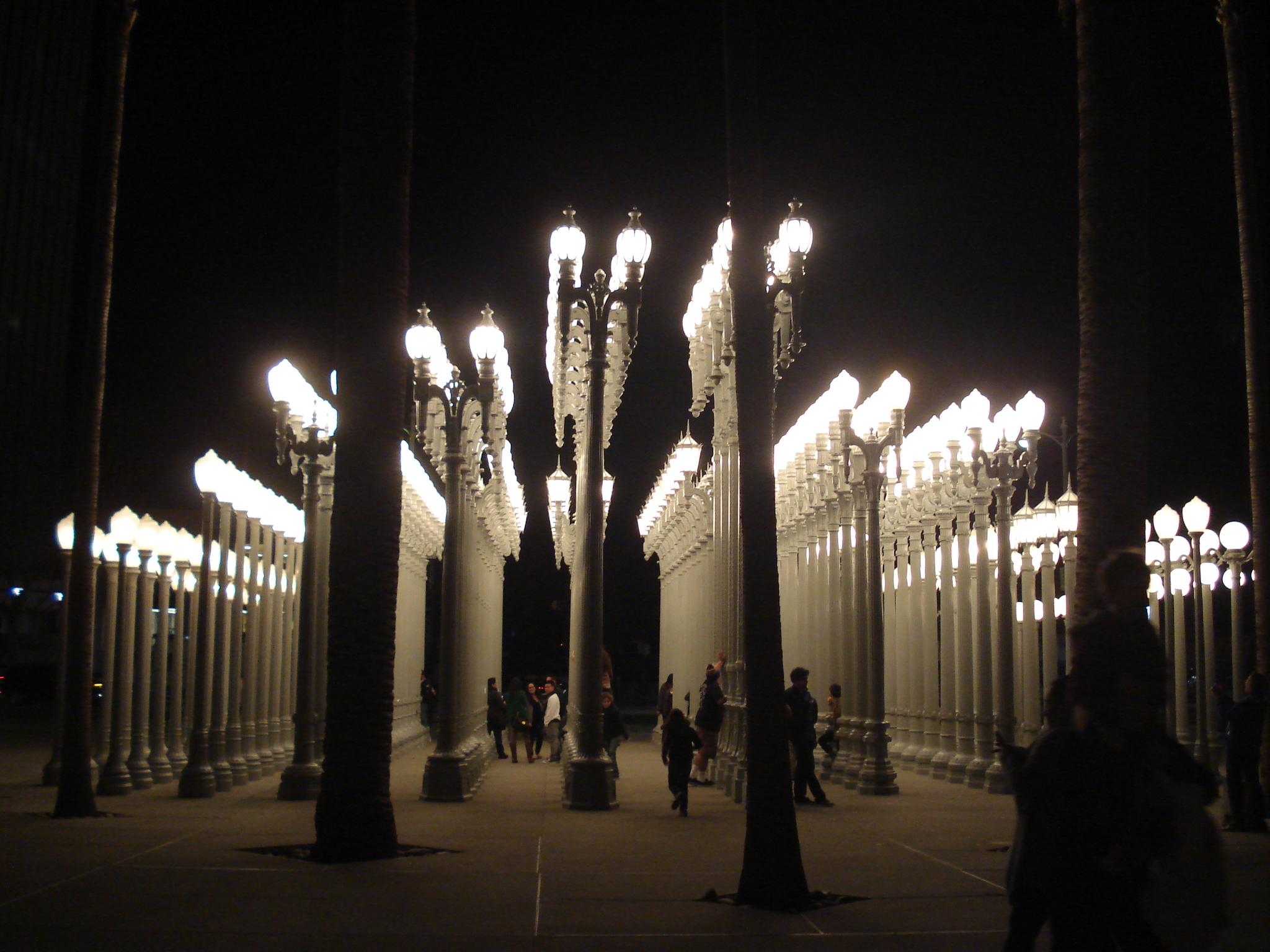 LACMA urban lights los angeles