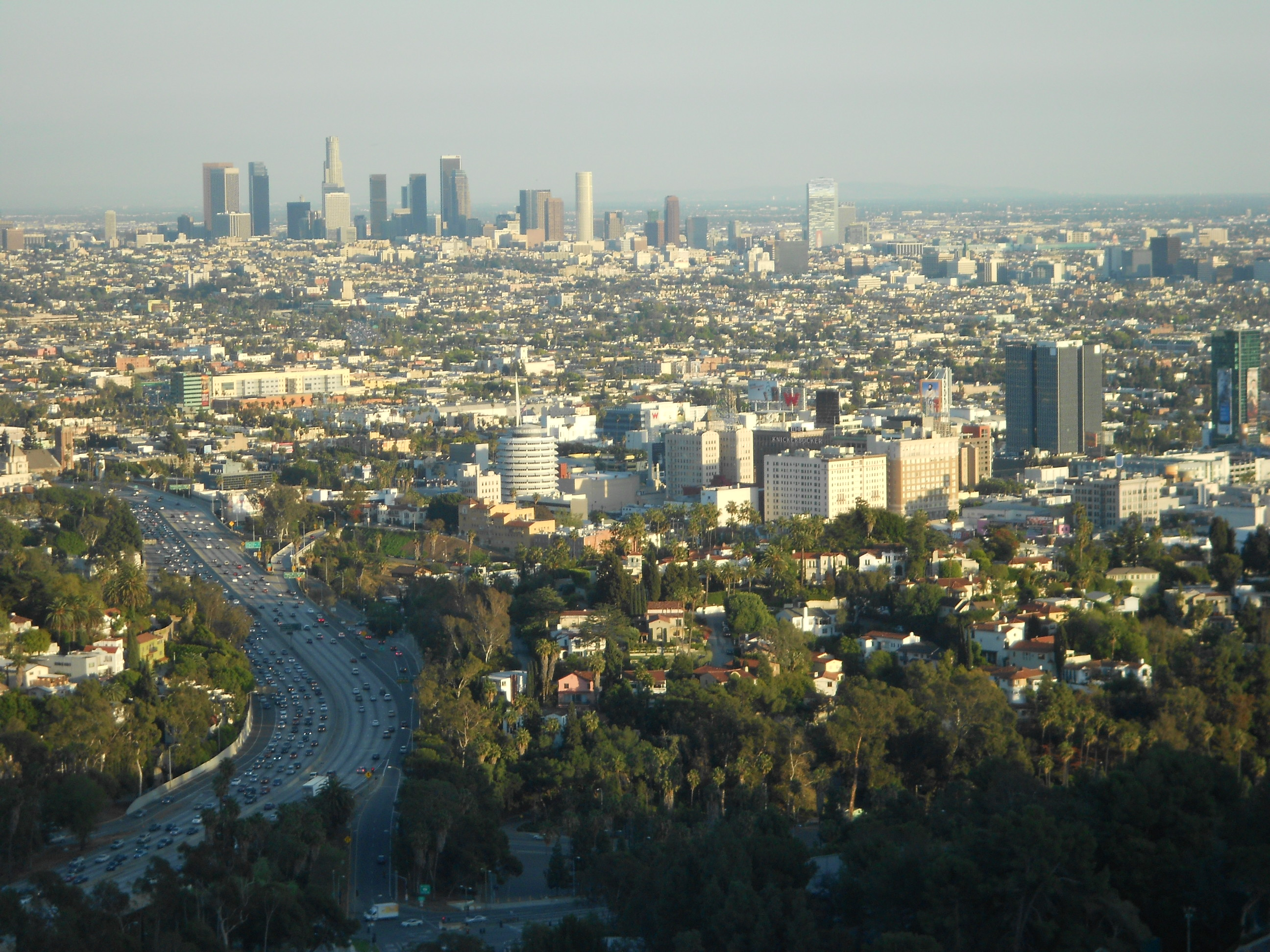 Vista de Los Angeles pela Mulholland Drive