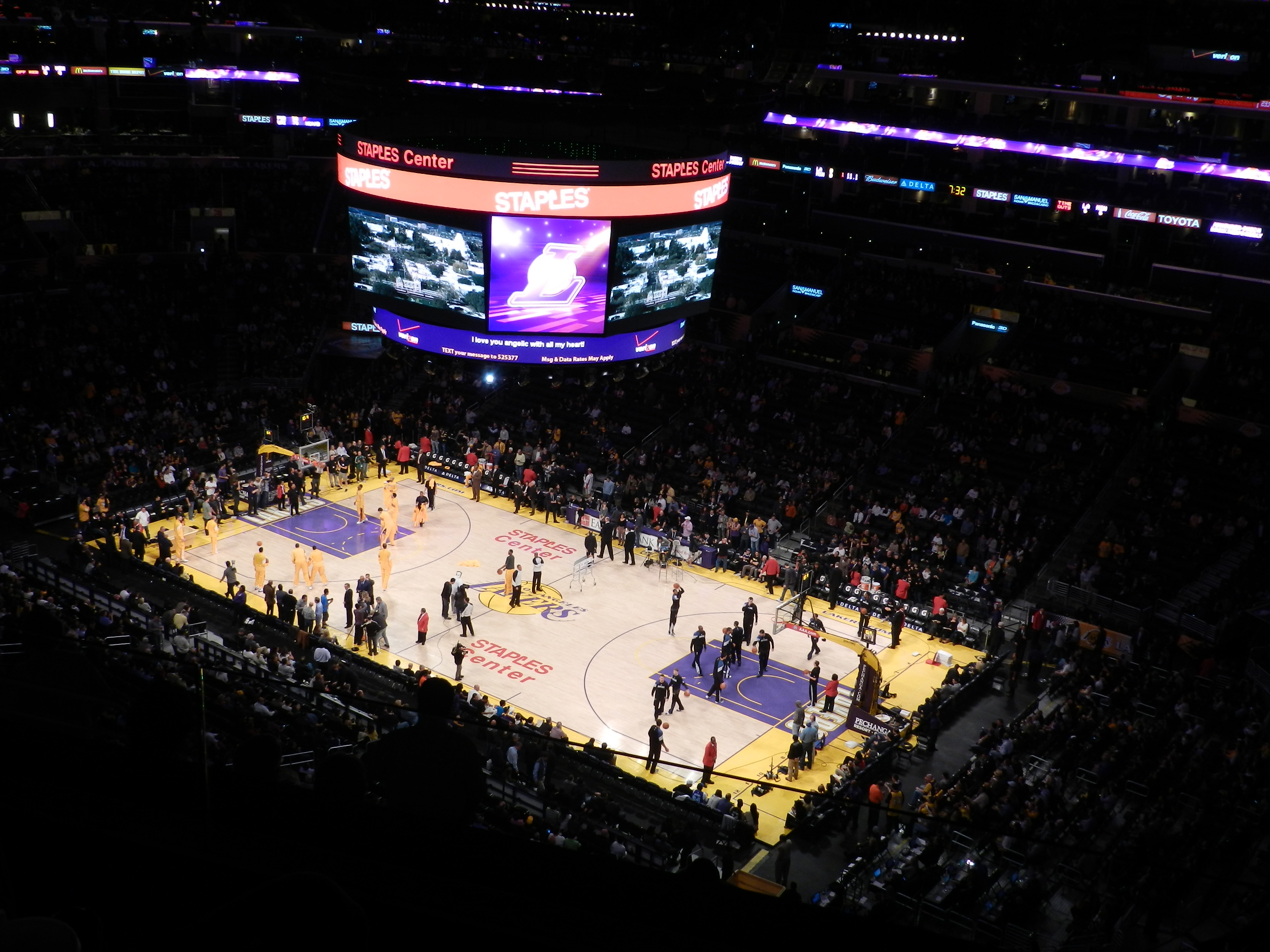 staples center lakers basquete los angeles downtown