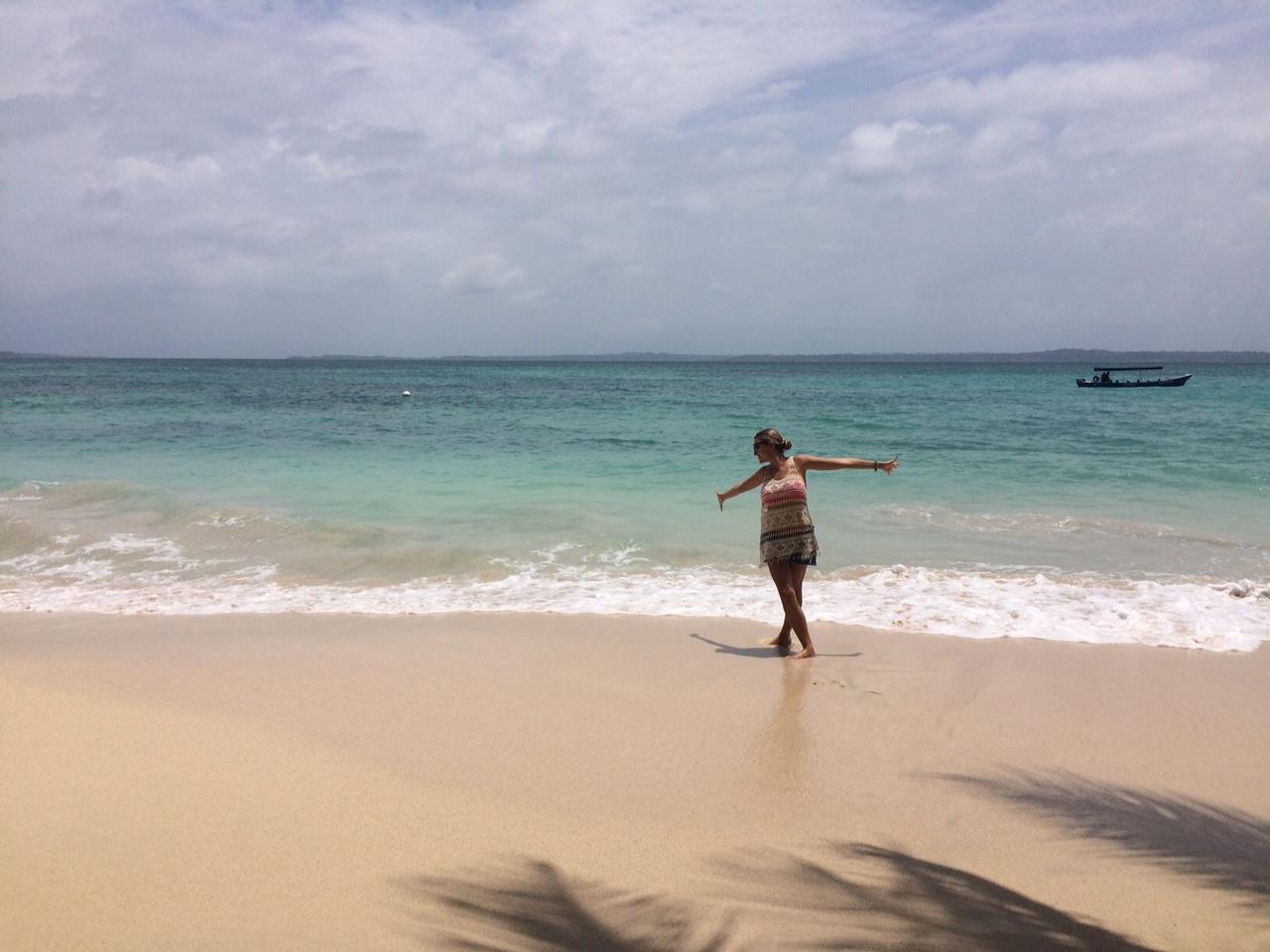 Que alegria! Água turquesinha e muito sol em Cayo Zapatilla