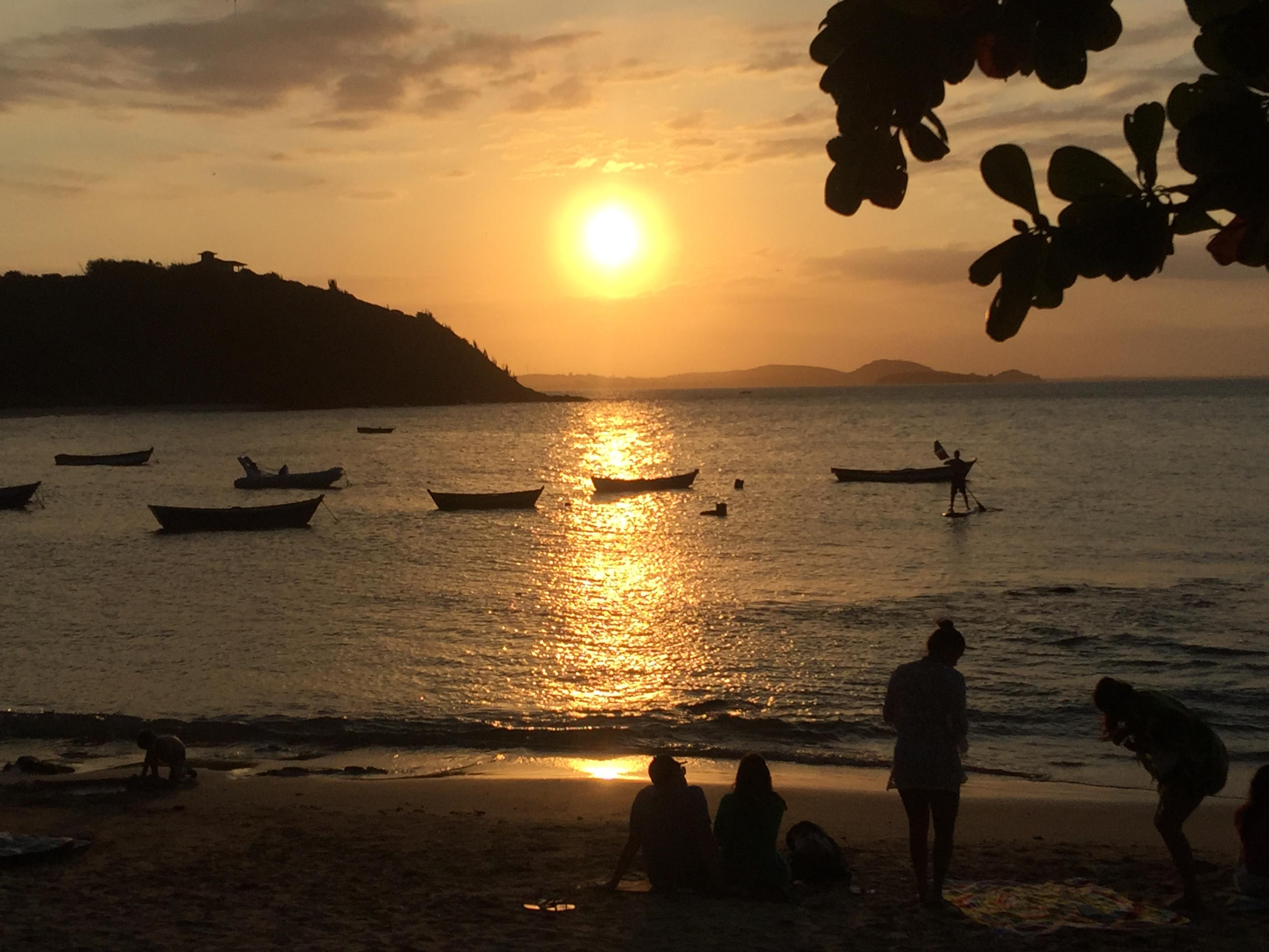Por do sol na Praia da Tartaruga