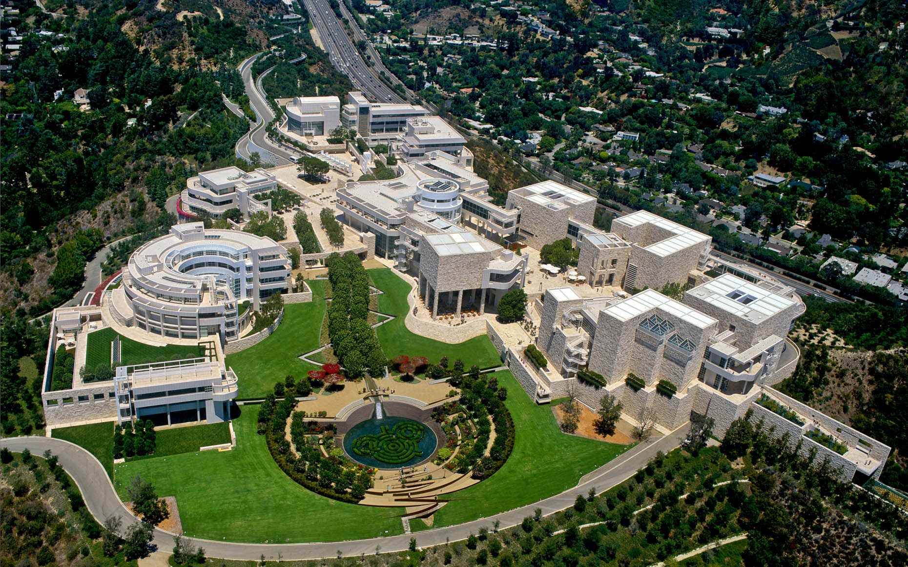 J. Paul Getty Museum Los Angeles CA - Aerial photogroahy by Stefen Turner