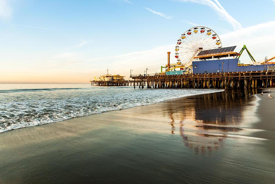 Píer de Santa Monica no nascer do sol | foto: asymptotia.com