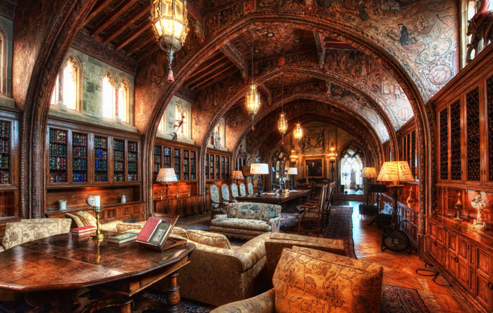 Escritório do Mr. Hearst | foto: hearstcastle.org