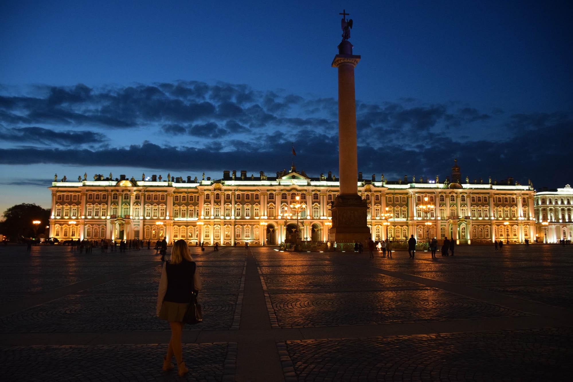 Palácio de Inverno e a Coluna de Alexander