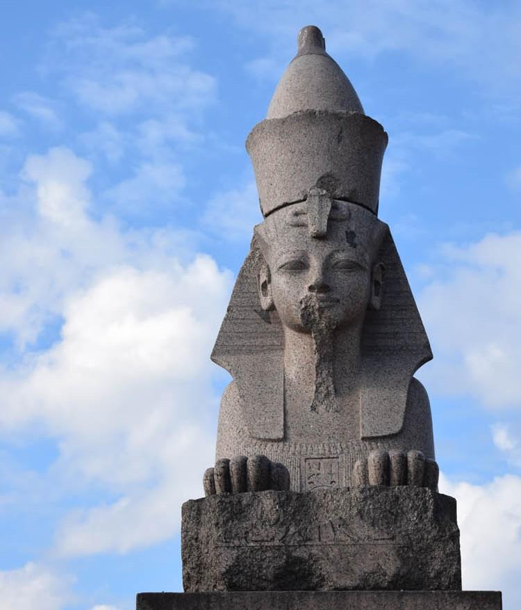 As esfinges do Antigo Egito na Ilha Vasilyevsky, em São Petersburgo