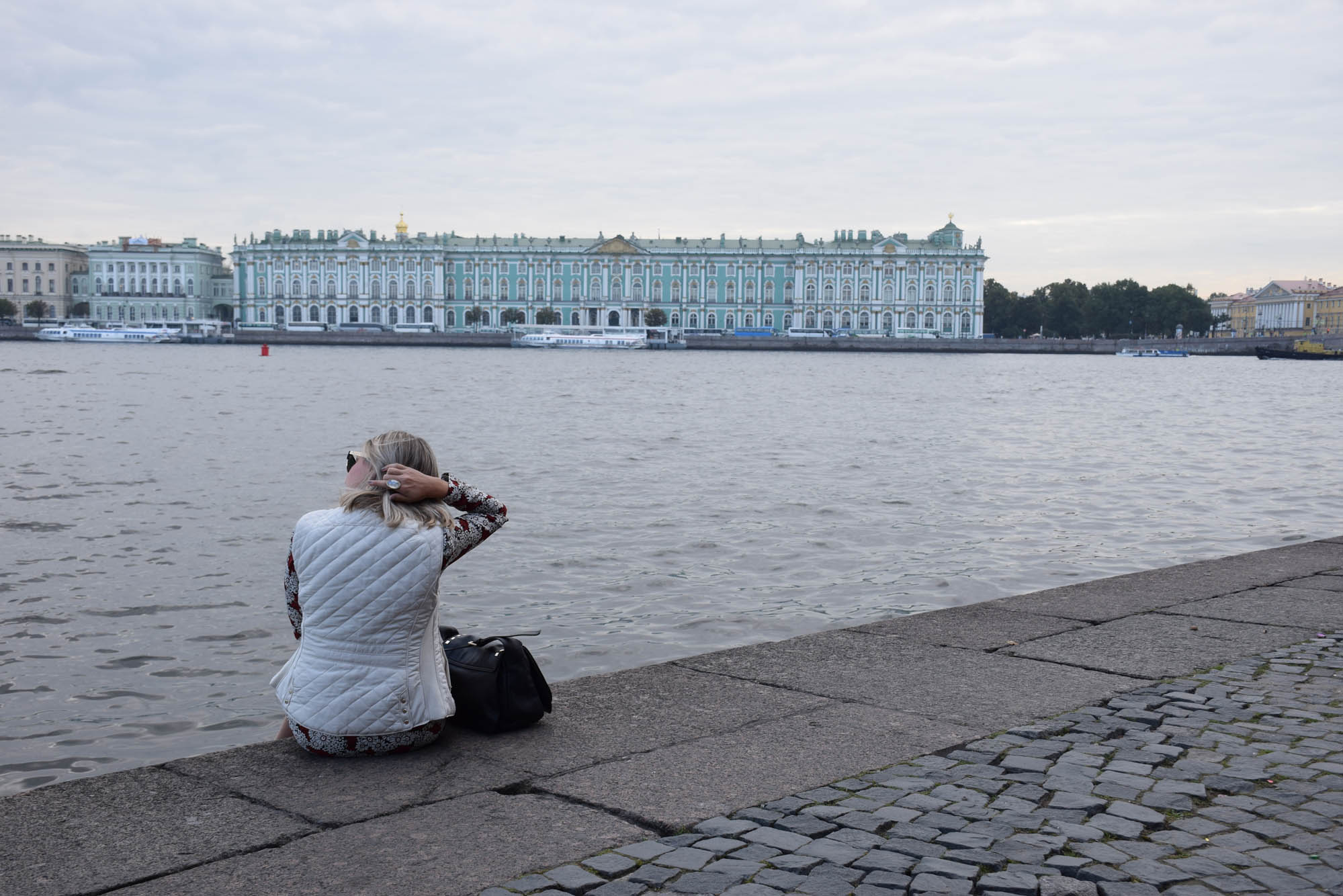 Palácio de Inverno visto da Ilha Vasilyevsky