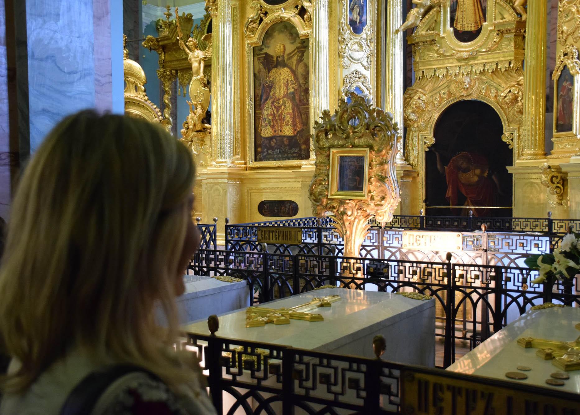 Os túmulos dos Czares e suas famílias da Dinastia Romanov, desde Pedro O Grande - Catedral de São Pedro e São Paulo
