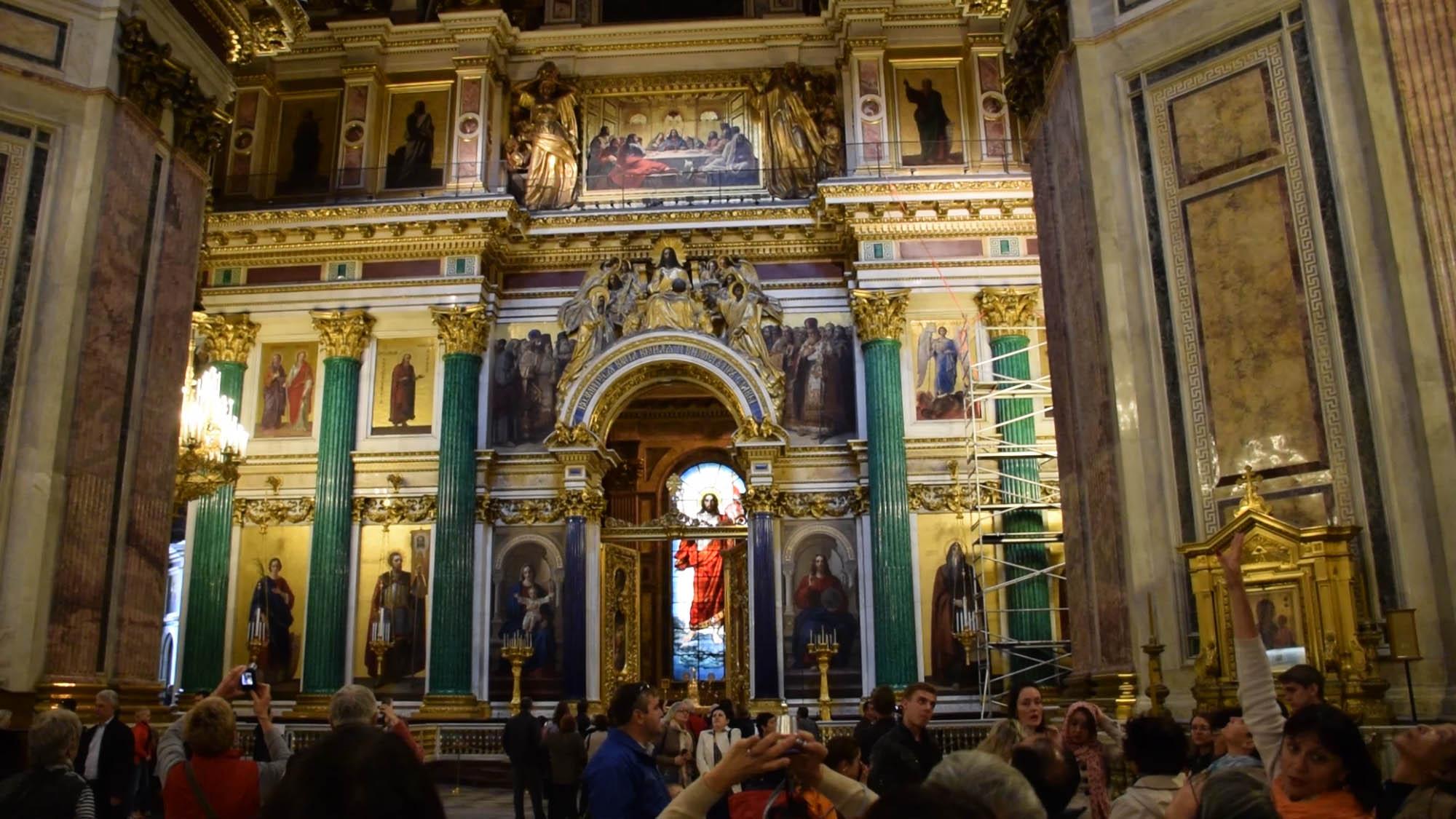 Interior da Catedral de São Isaac, São Petersburgo