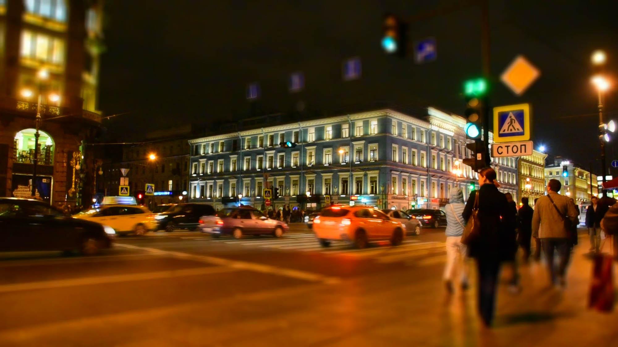 A famosa Nevsky Prospekt, em São Petersburgo - onde tudo acontece!!