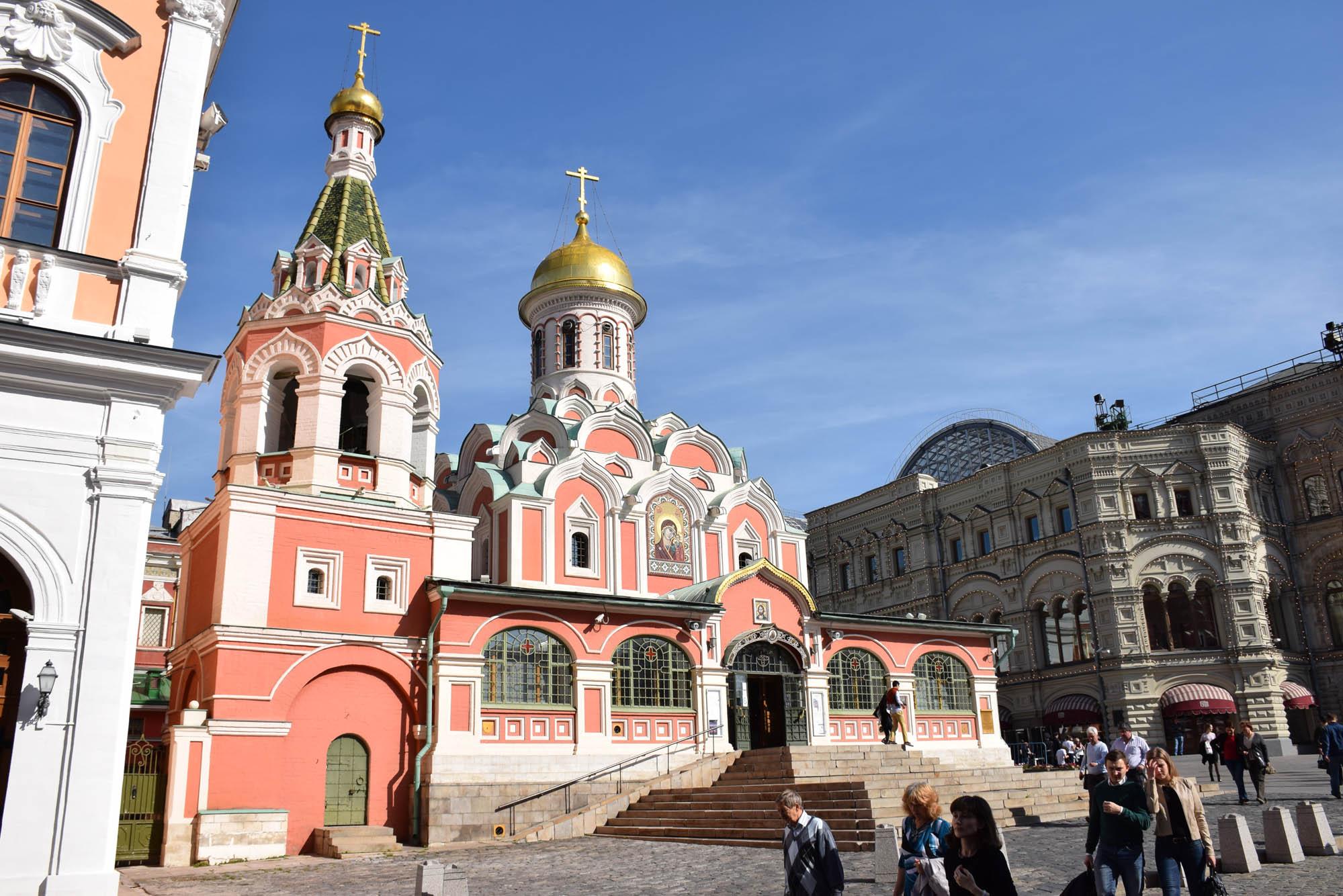 viagem para a Rússia - Catedral de Kazan praca vermelha moscou