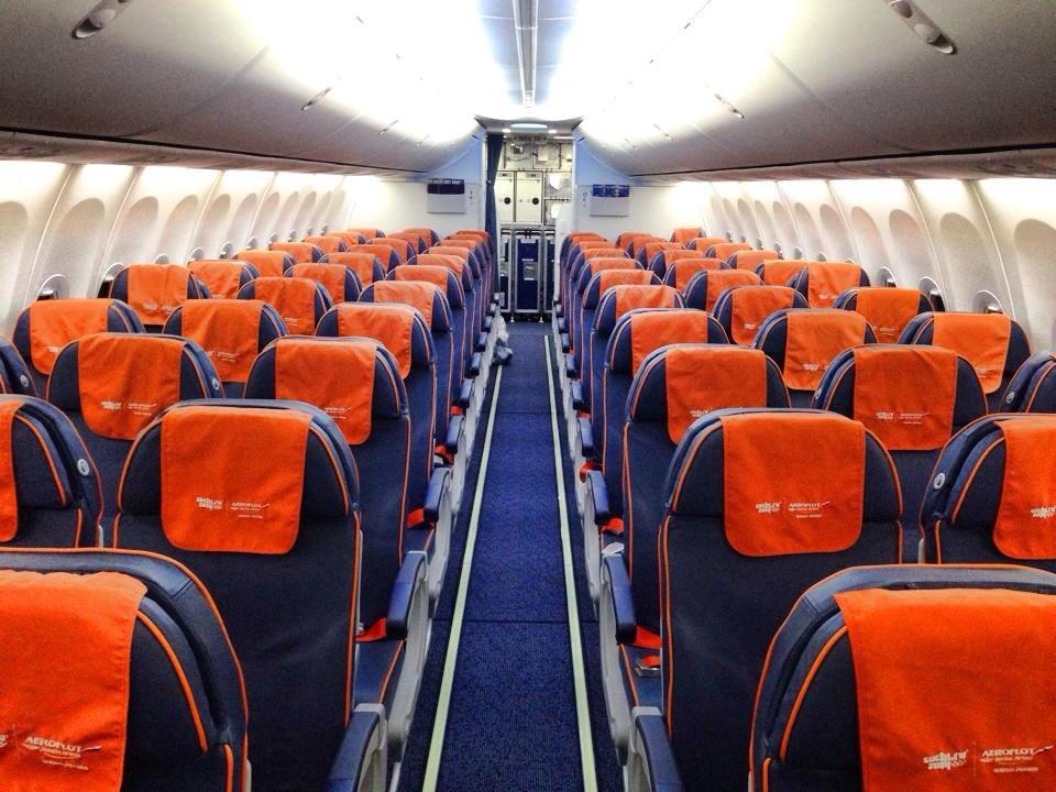Interior da aeronave da AEROFLOT