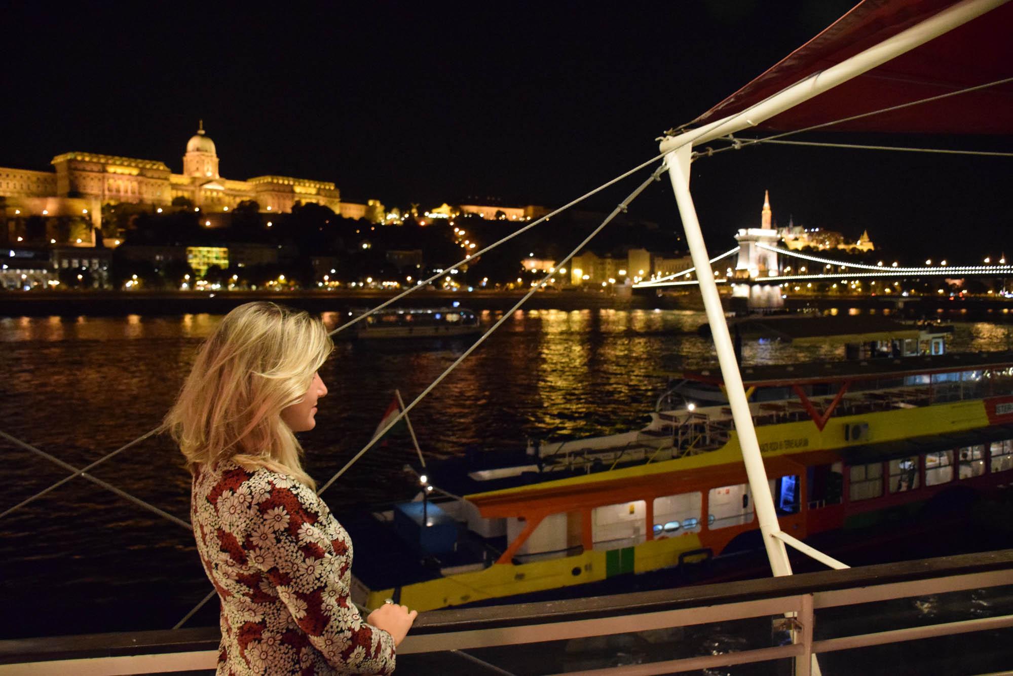 Que vista! Castelo de Buda e Chain Bridge sobre o Rio Danúbio | Spoon Restaurant