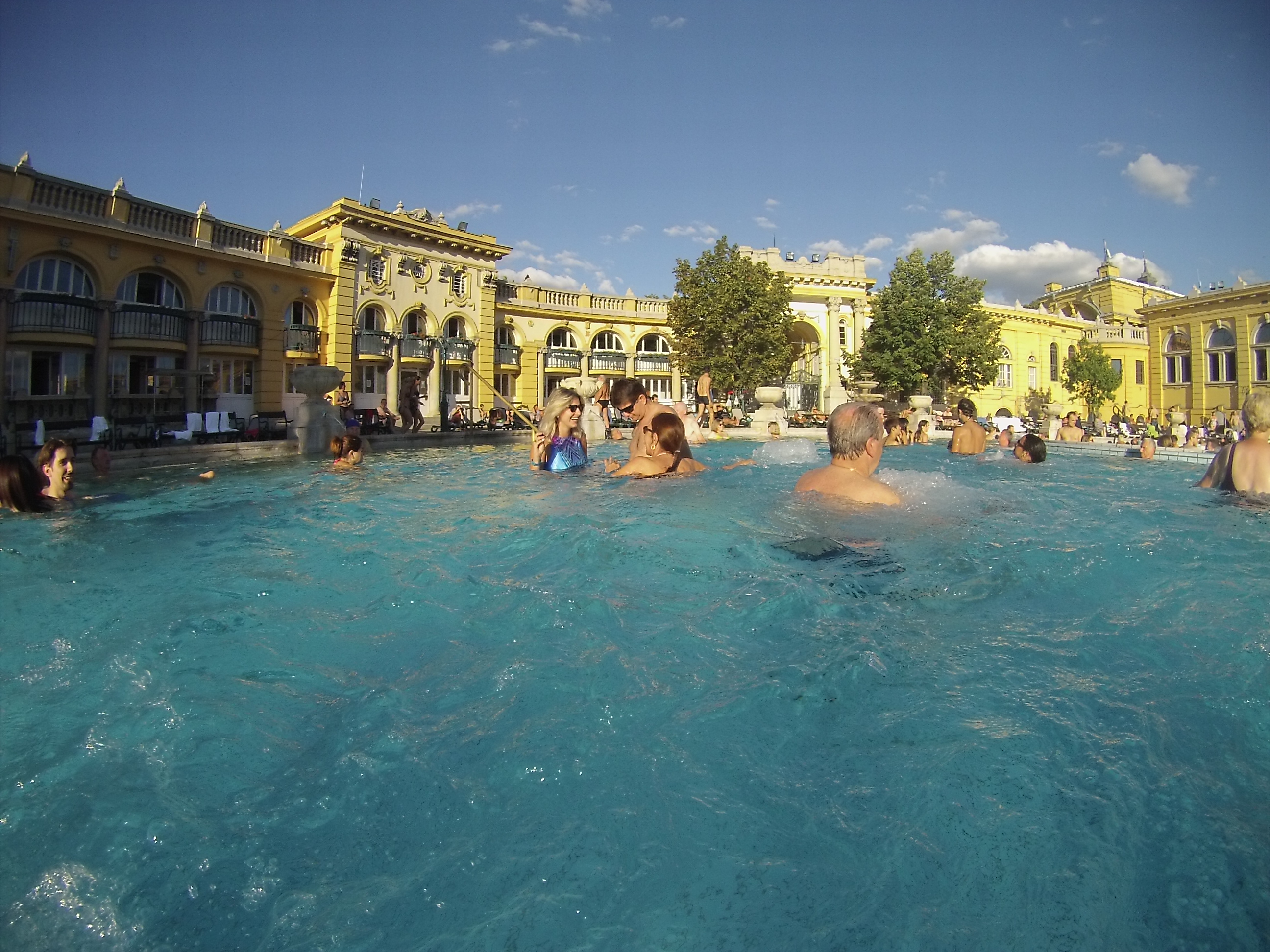 Széchenyi furdo thermal bath banho turco budapeste
