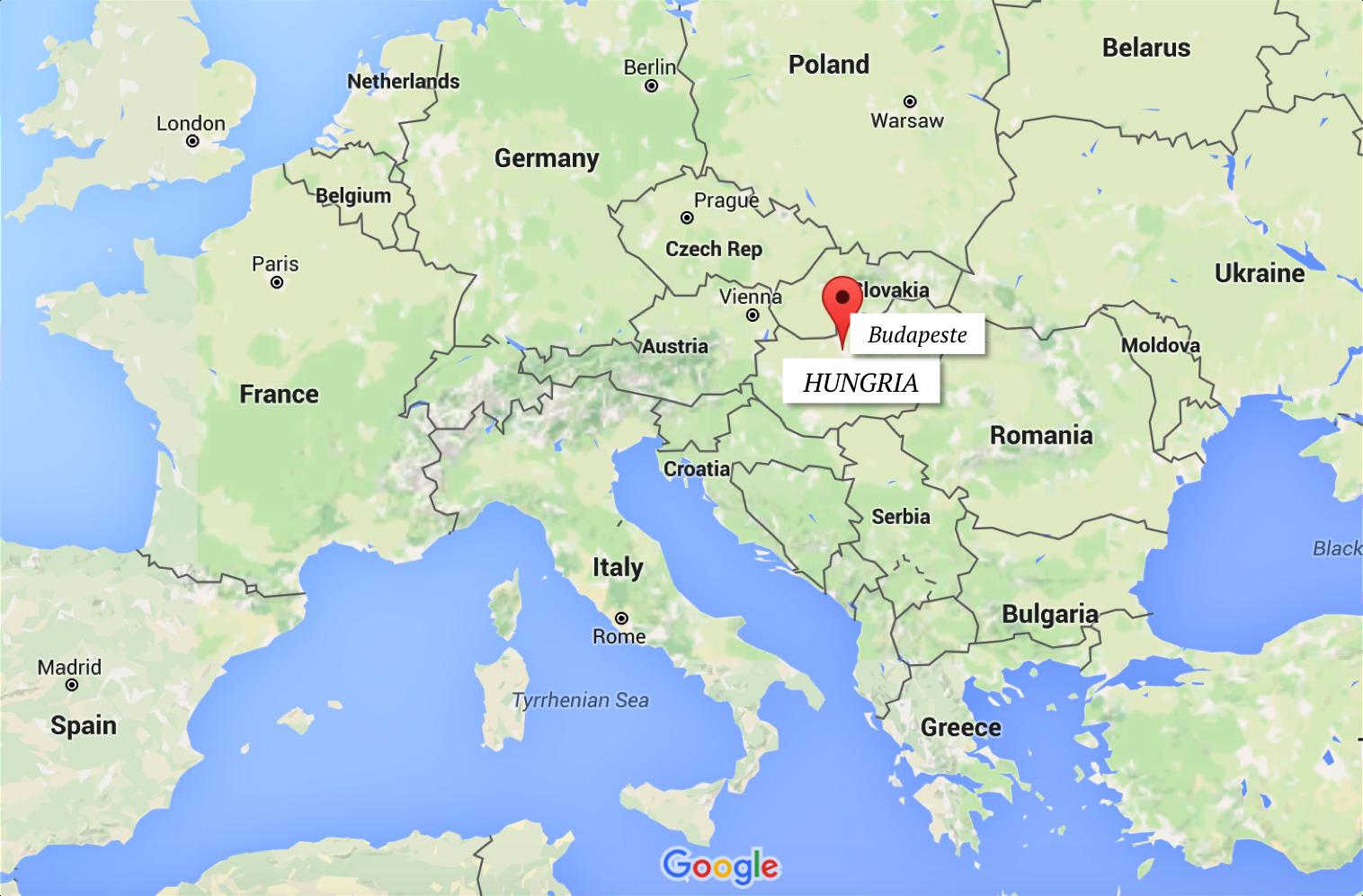 mapa hungria budapeste