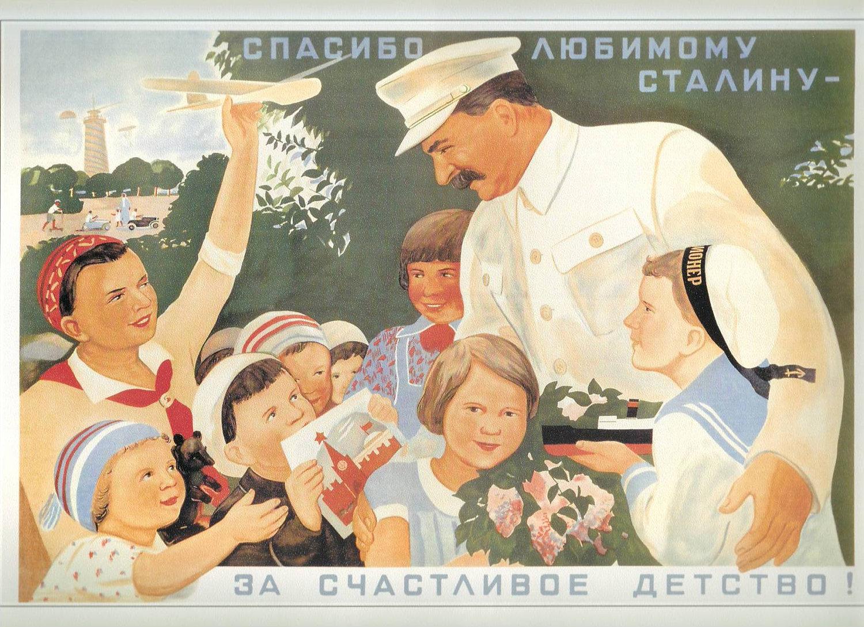 Joseph Stálin em uma linda e fantasiosa propaganda política