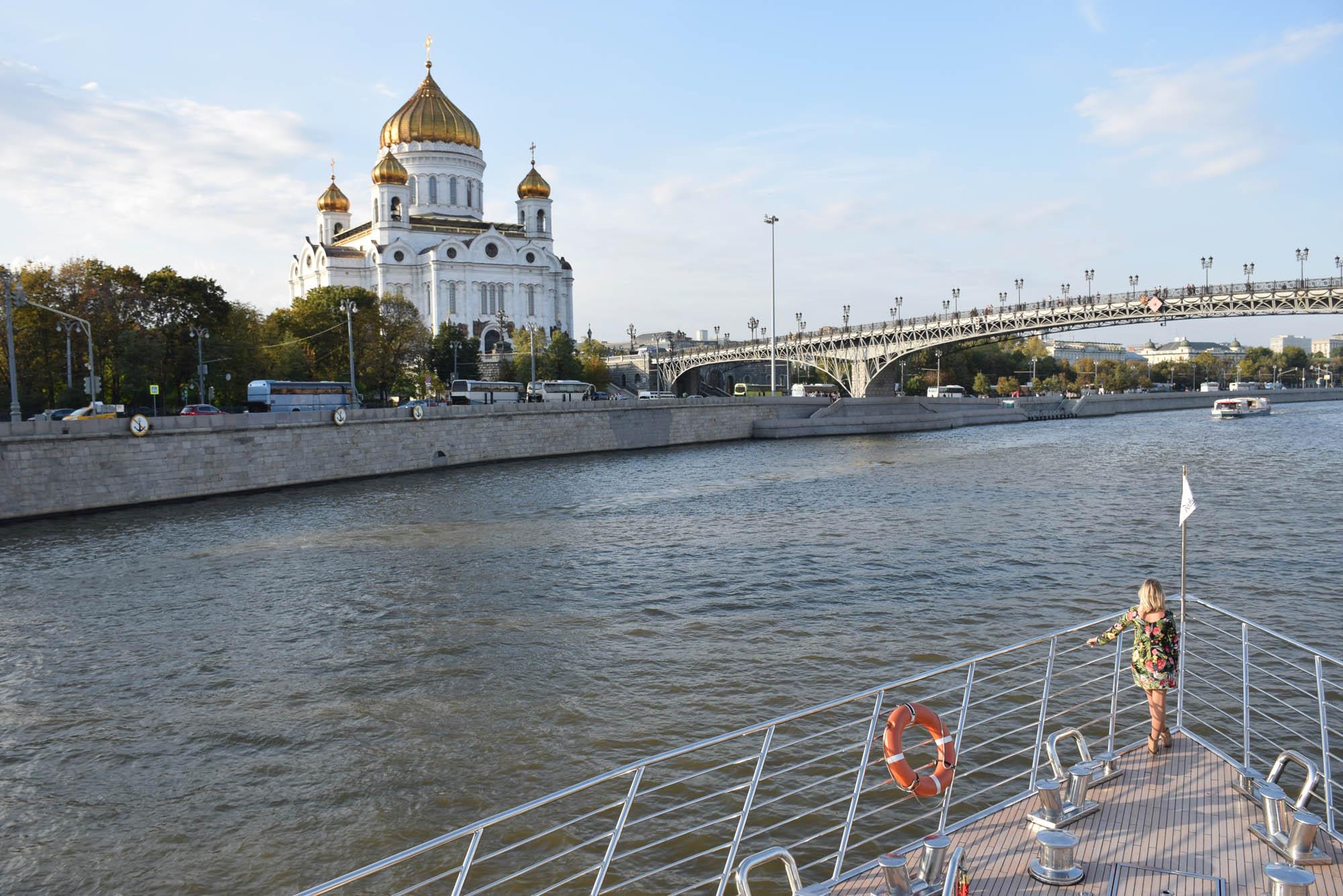 catedral de cristo salvador moscou vista do rio Moskva