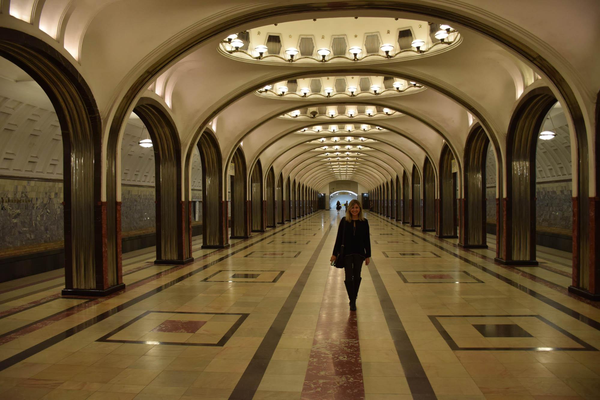 Estação de metrô Mayakovskaya Moscou