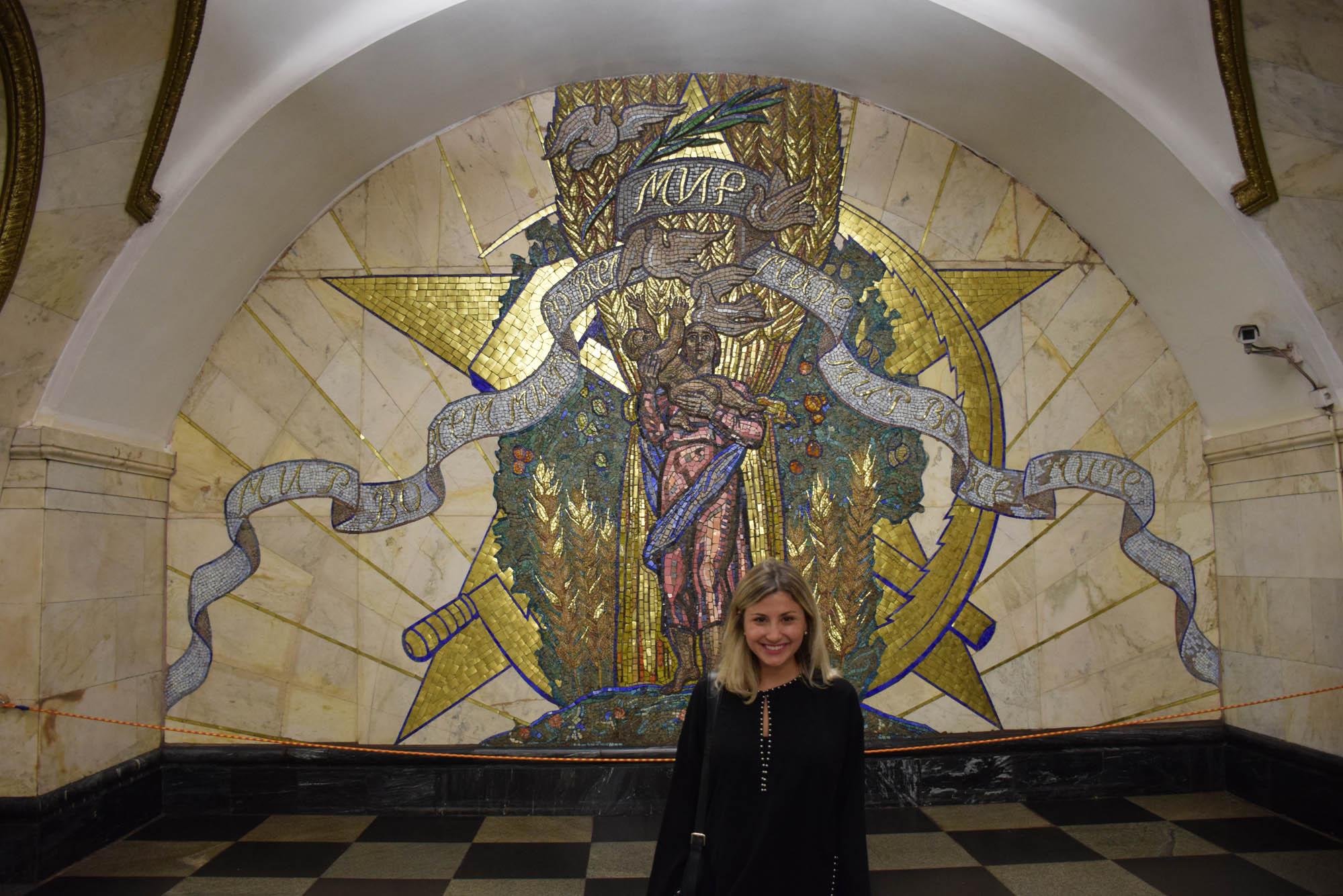 Novoslobodskaya estação metro moscou