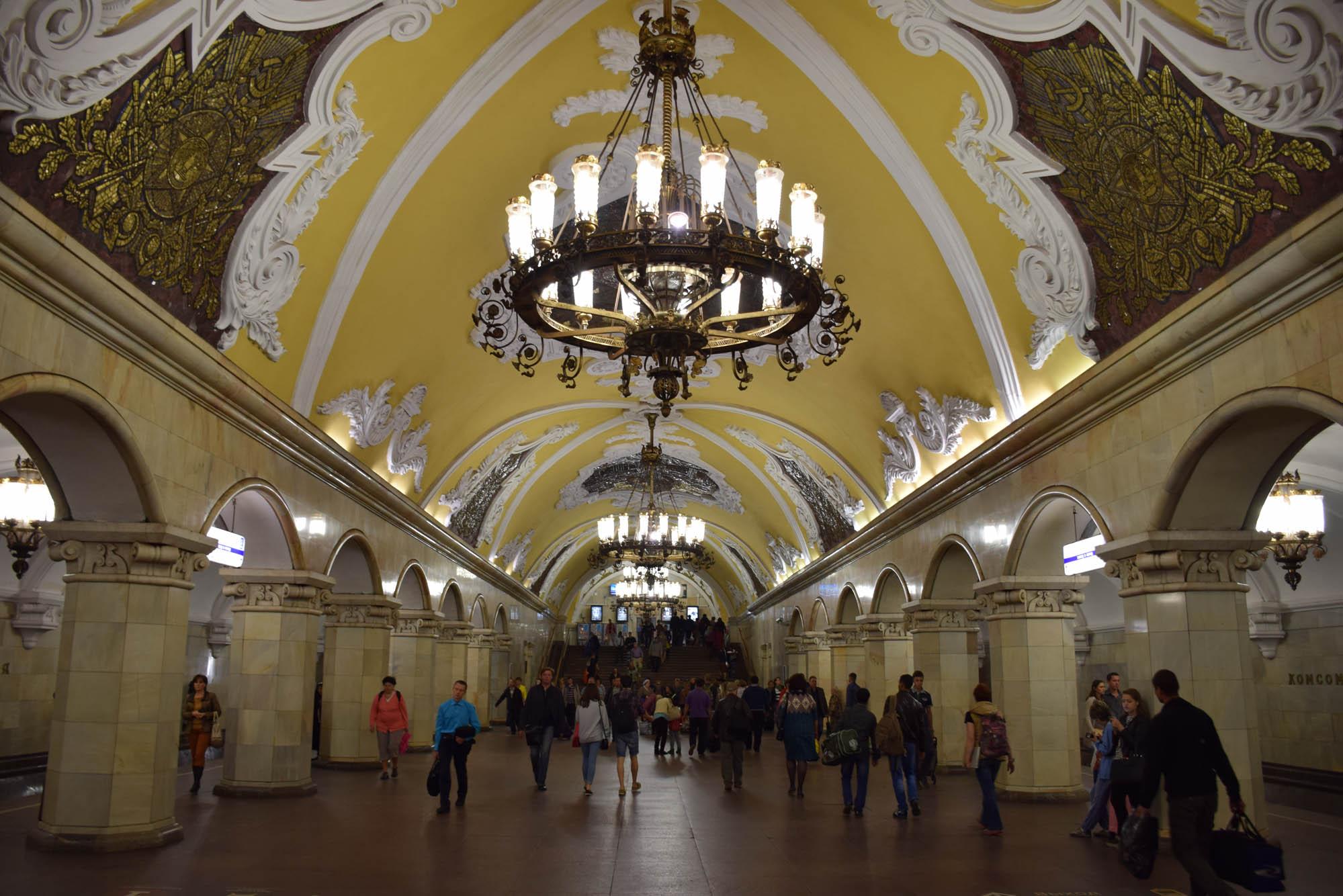 Estação de metrô Komsomolskaya - Moscou
