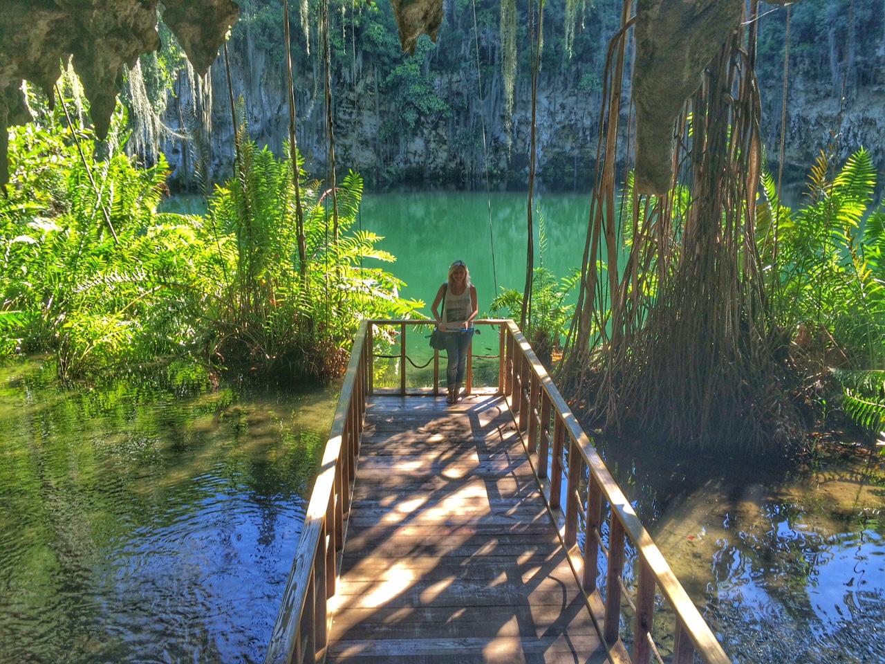 parque los tres ojos cenote - santo domingo - republica dominicana