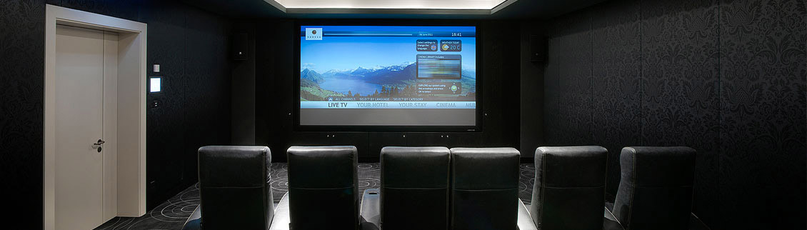 Hotel Villa Honegg indoor cinema