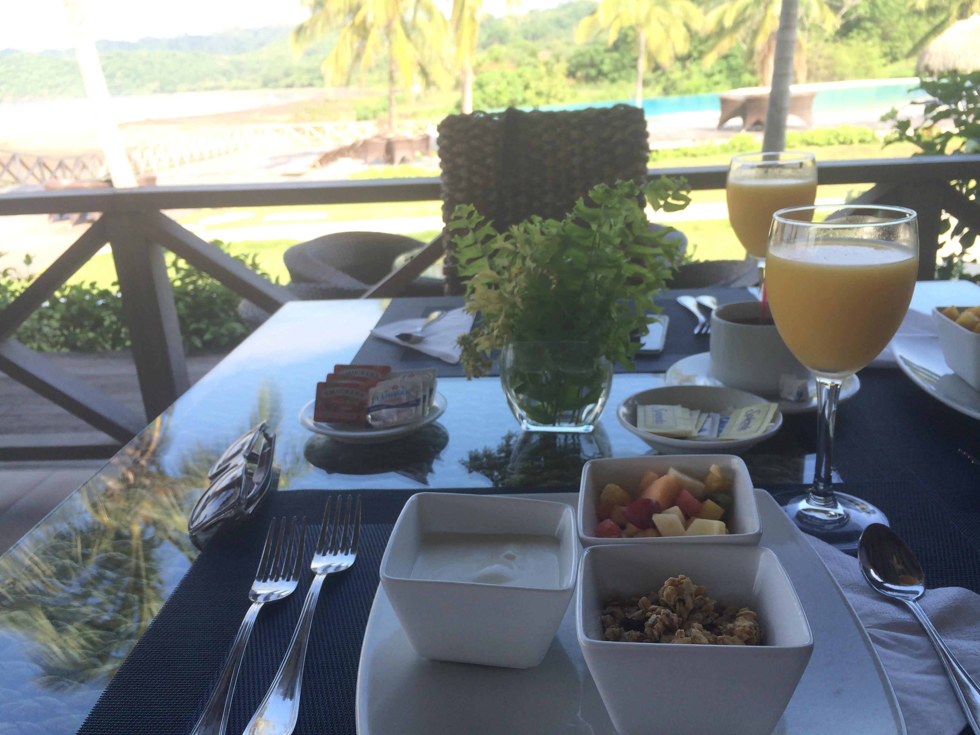 Nosso café da manhã no Playa Venao Hotel Resort