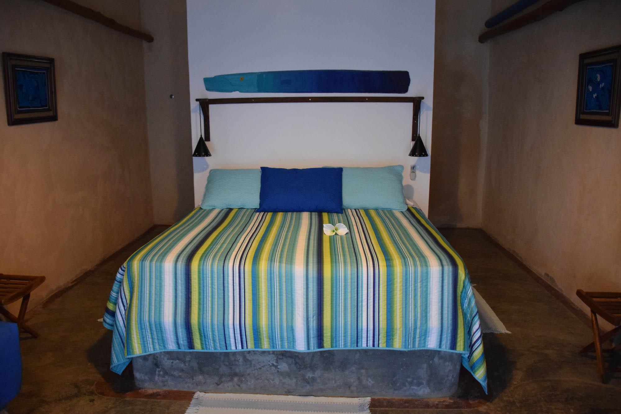Nosso quarto na pousada Casa Lajagua, em Pedasí - Panamá