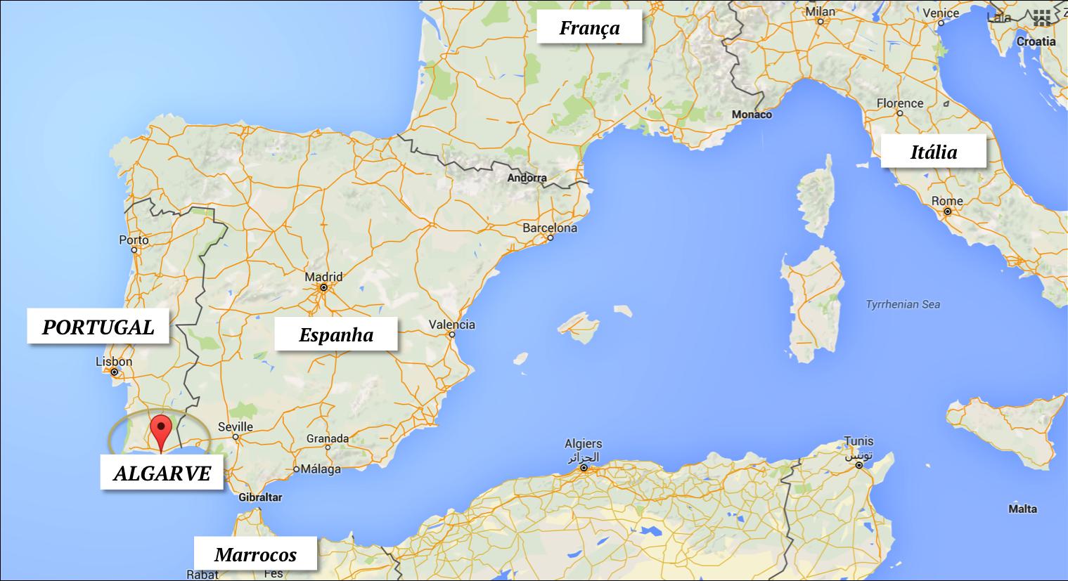 algarve portugal onde fica localizacao