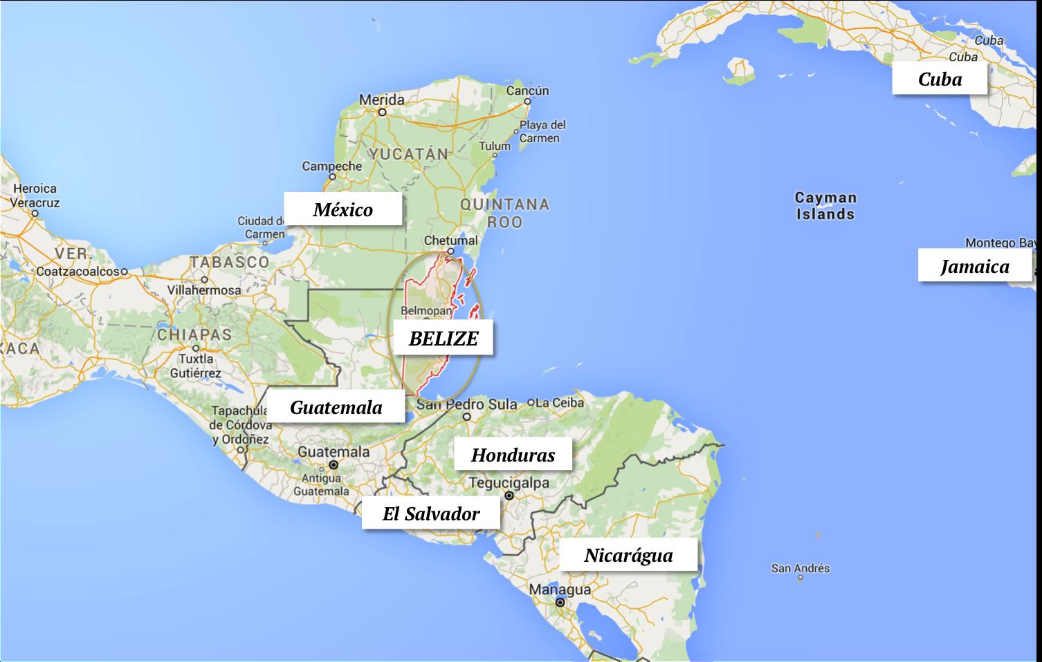 belize mapa america central onde fica localizacao viagem turismo dicas