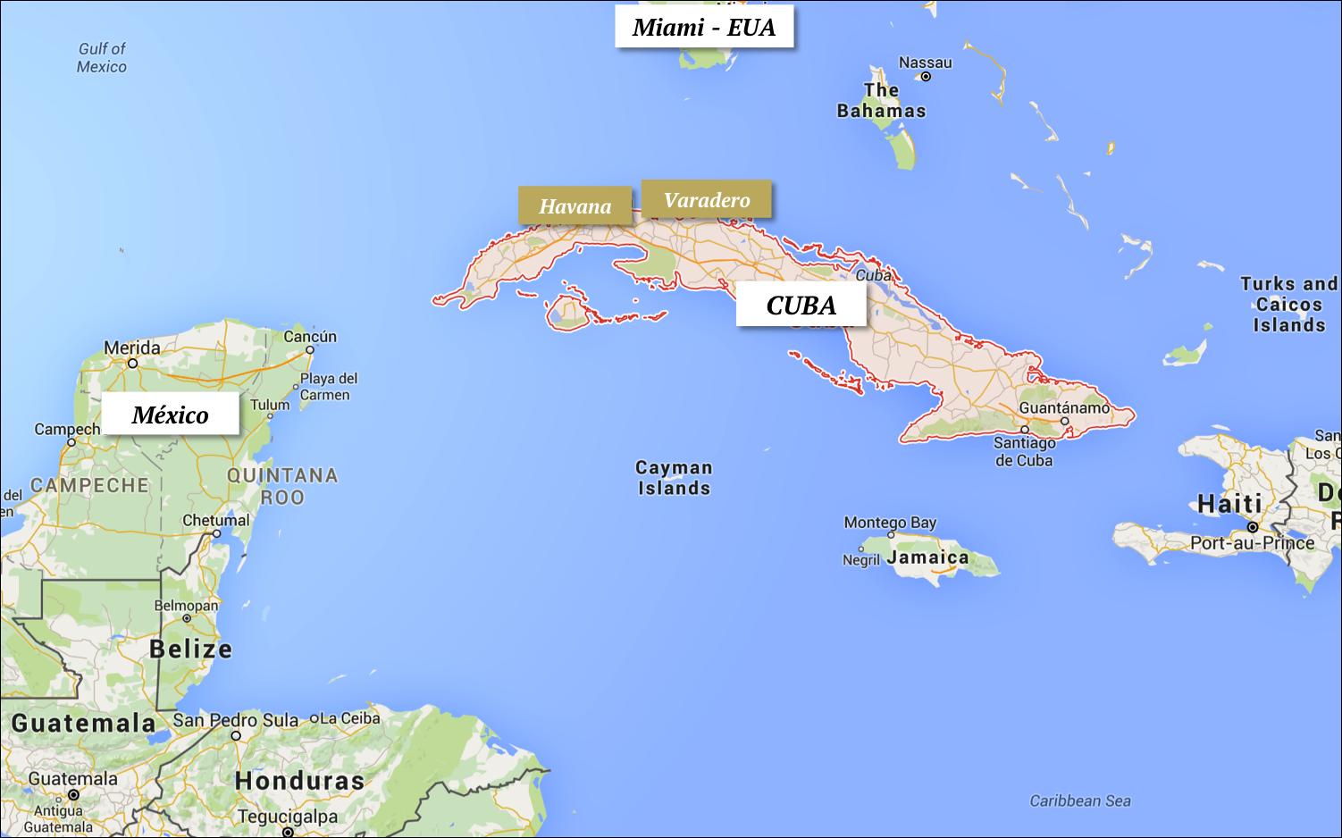 cuba localização dicas viagem turismo havana varadero distancia