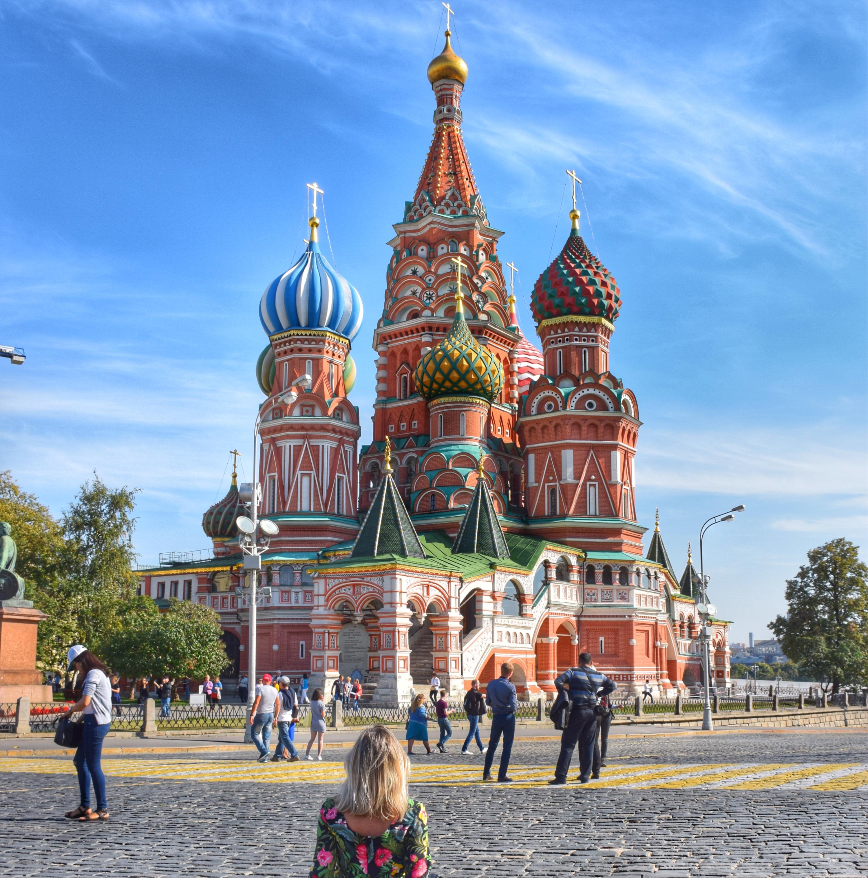 Catedral de São Basílio, na Praça Vermelha de Moscou - Rússia