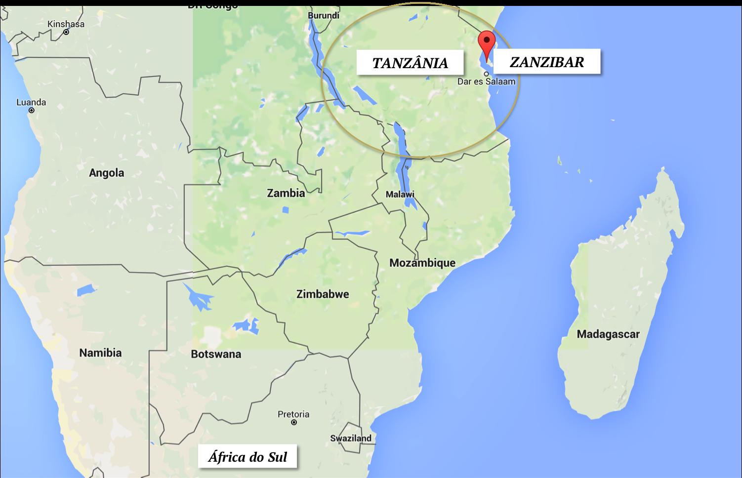 dicas de zanzibar onde fica localizacao tanzania africa do sul