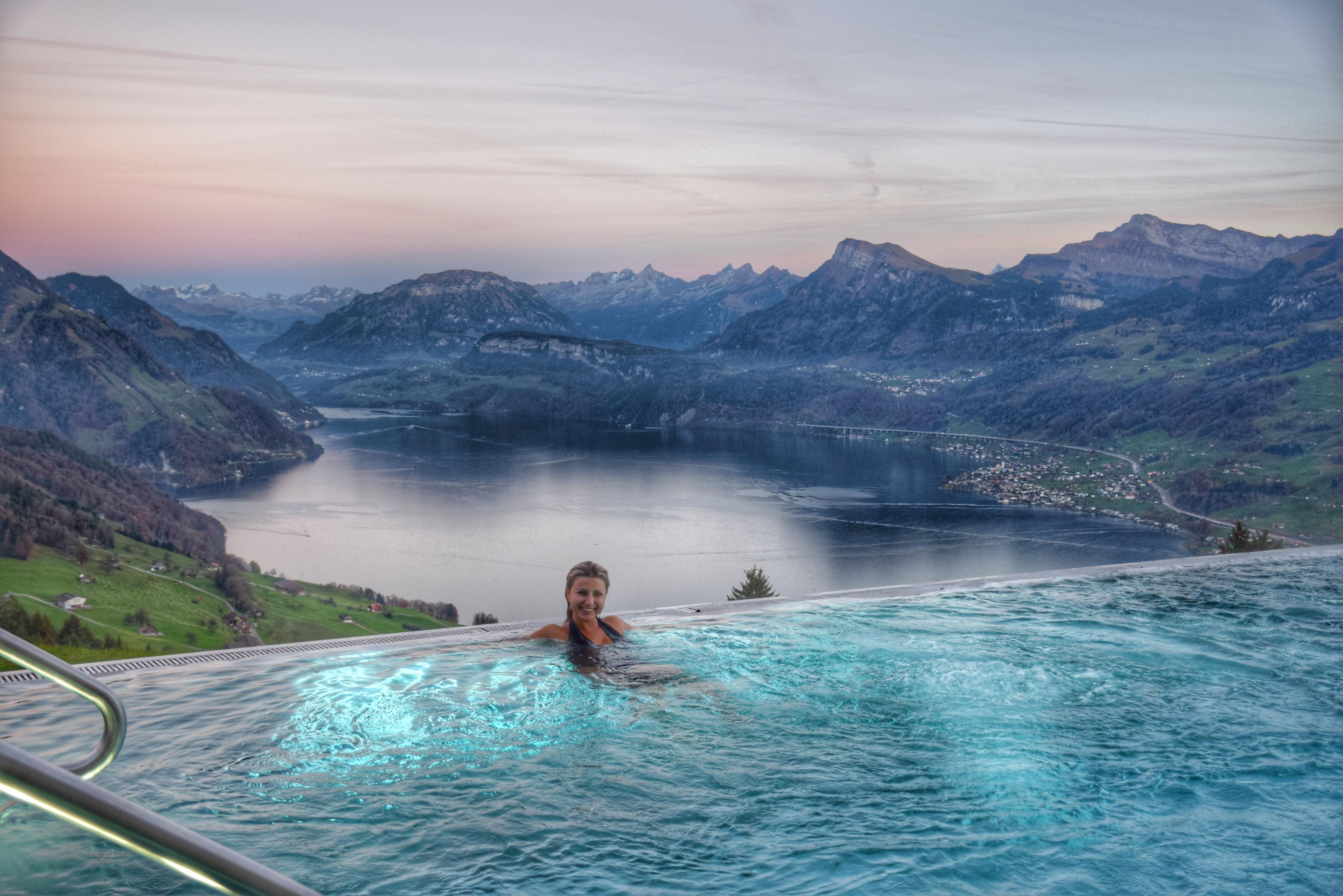 Um sonho essa piscina do Villa Honegg