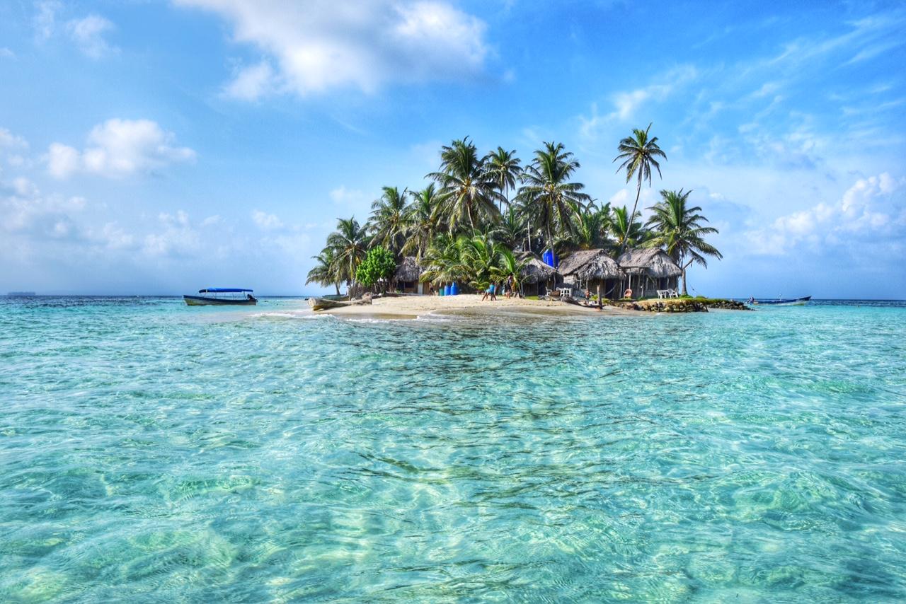 """Isla Coco Blanco - nossa """"casa"""" por um fim de semana - San Blas - Panamá"""