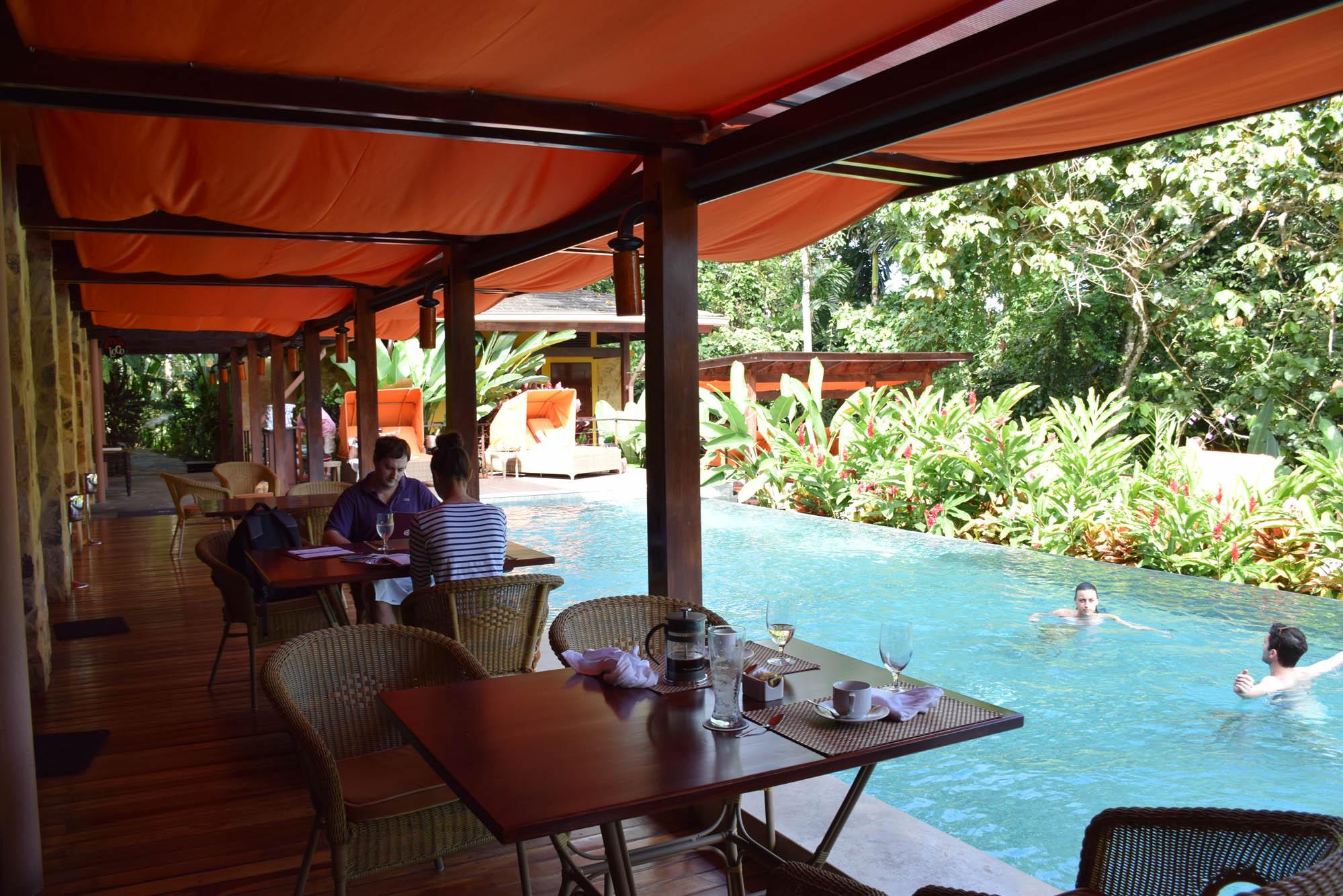 Parte externa do restaurante Amor Loco (Nayara Springs Hotel - La Fortuna/Arenal - Costa Rica)