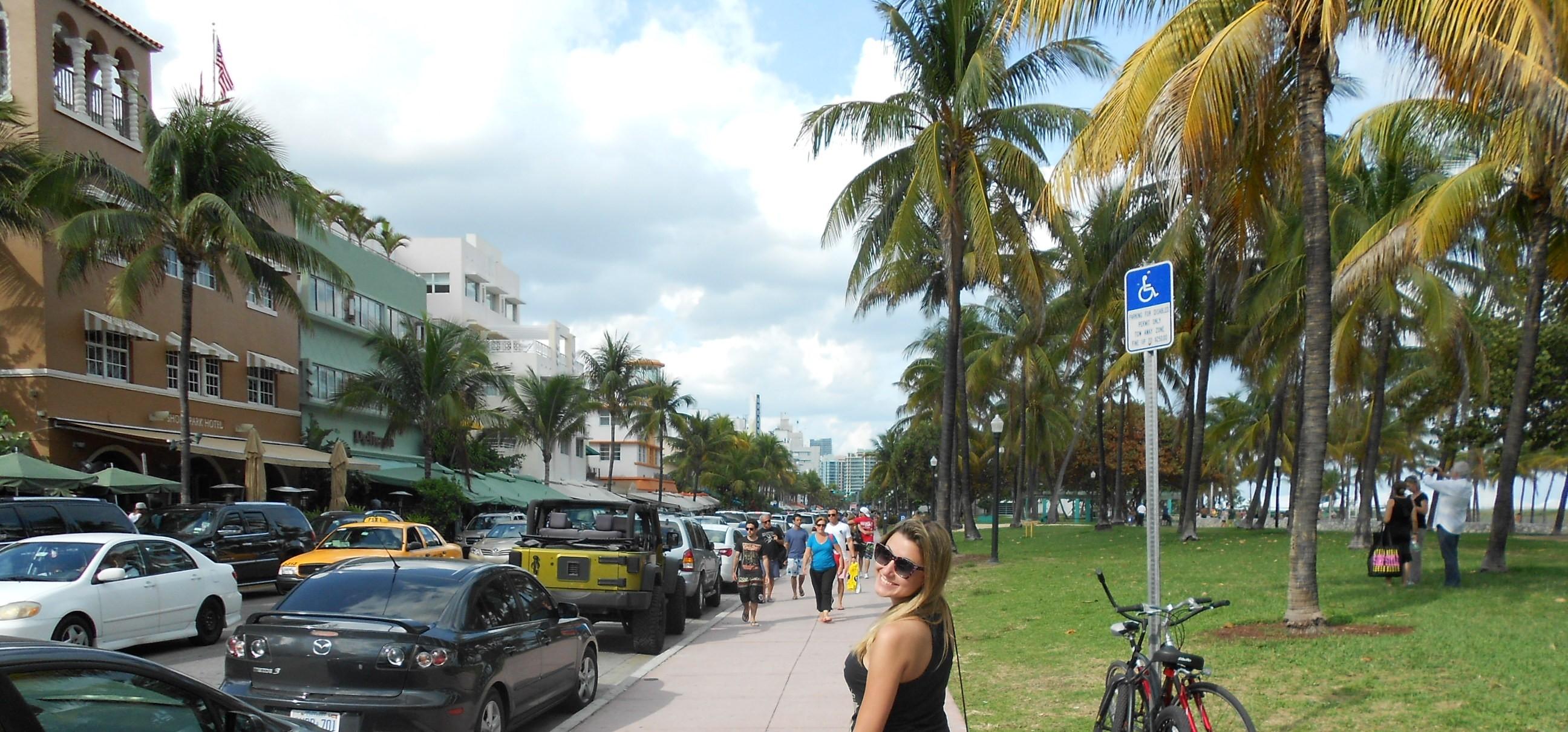 Olha eu aí, há muuuitos anos, passeando por Miami Beach :)