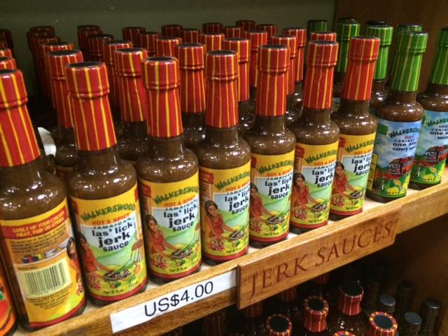 Jerk Sauce a venda no aeroporto de Montego Bay