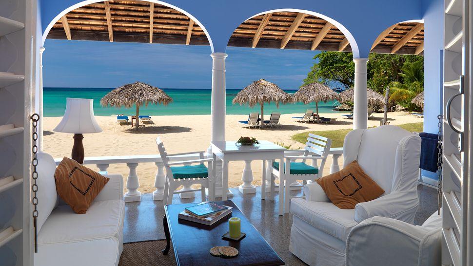 Terraço da Suíte Premier Verandah - Jamaica Inn Ocho Rios