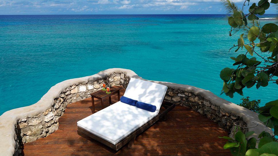 Terraço privado da White Suite - Jamaica Inn Ocho Rios