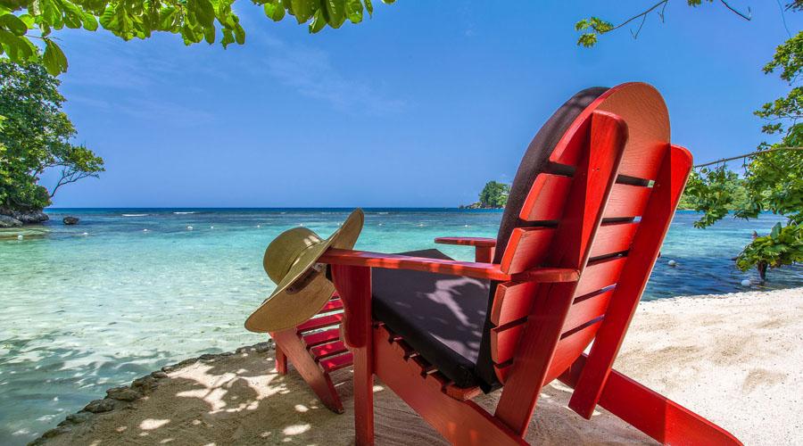 Nada mal essa praia do Geejam Hotel, né? | Port Antonio - Jamaica