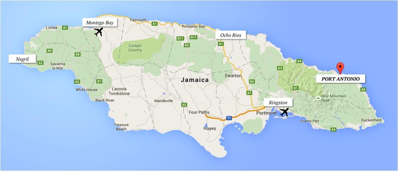 como chegar port antonio jamaica