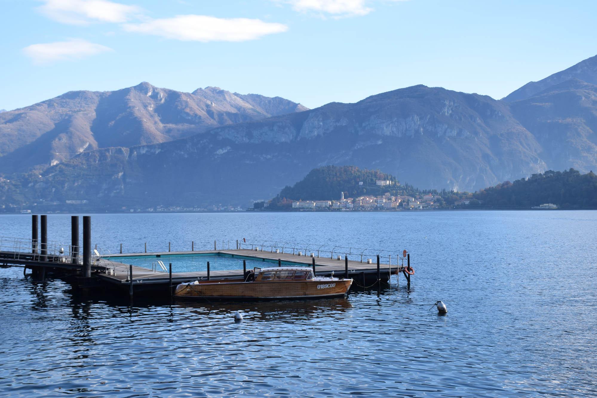 A lancha do hotel Tremezzo chamada RUY, para passeios com hóspedes pelo Lago di Como