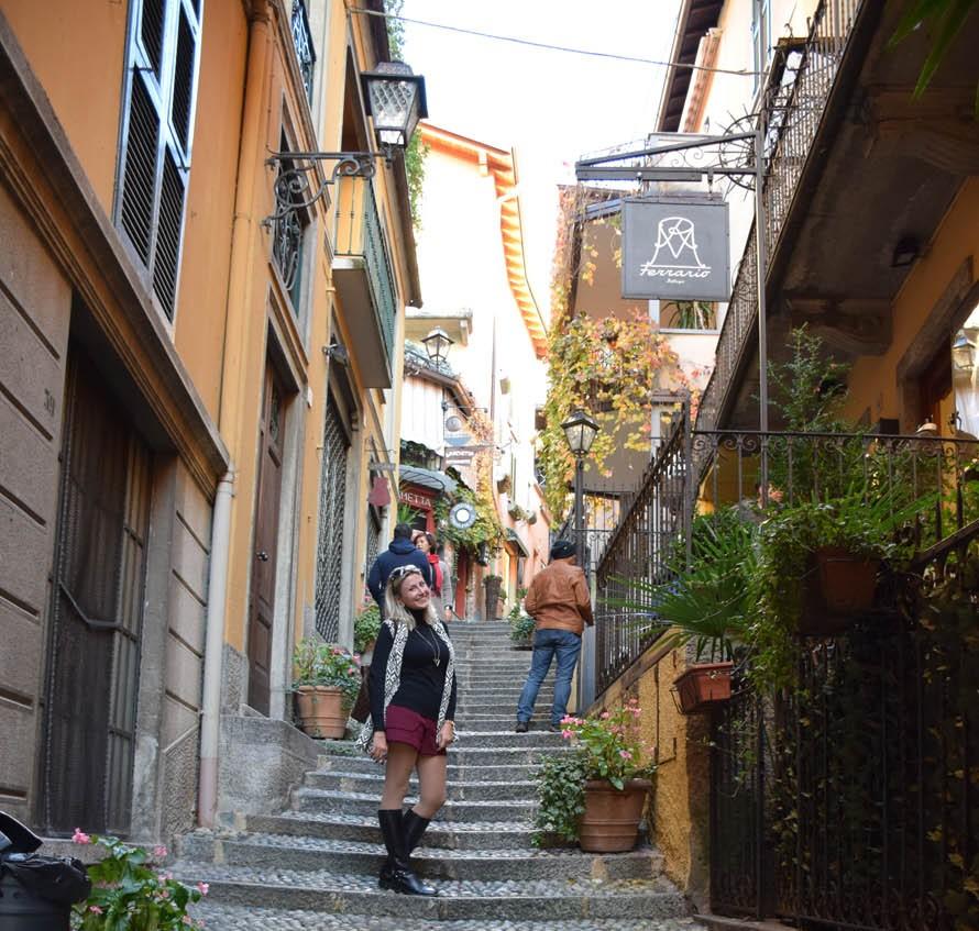 Pelas ruelas de Bellagio, no Lago di Como - Itália