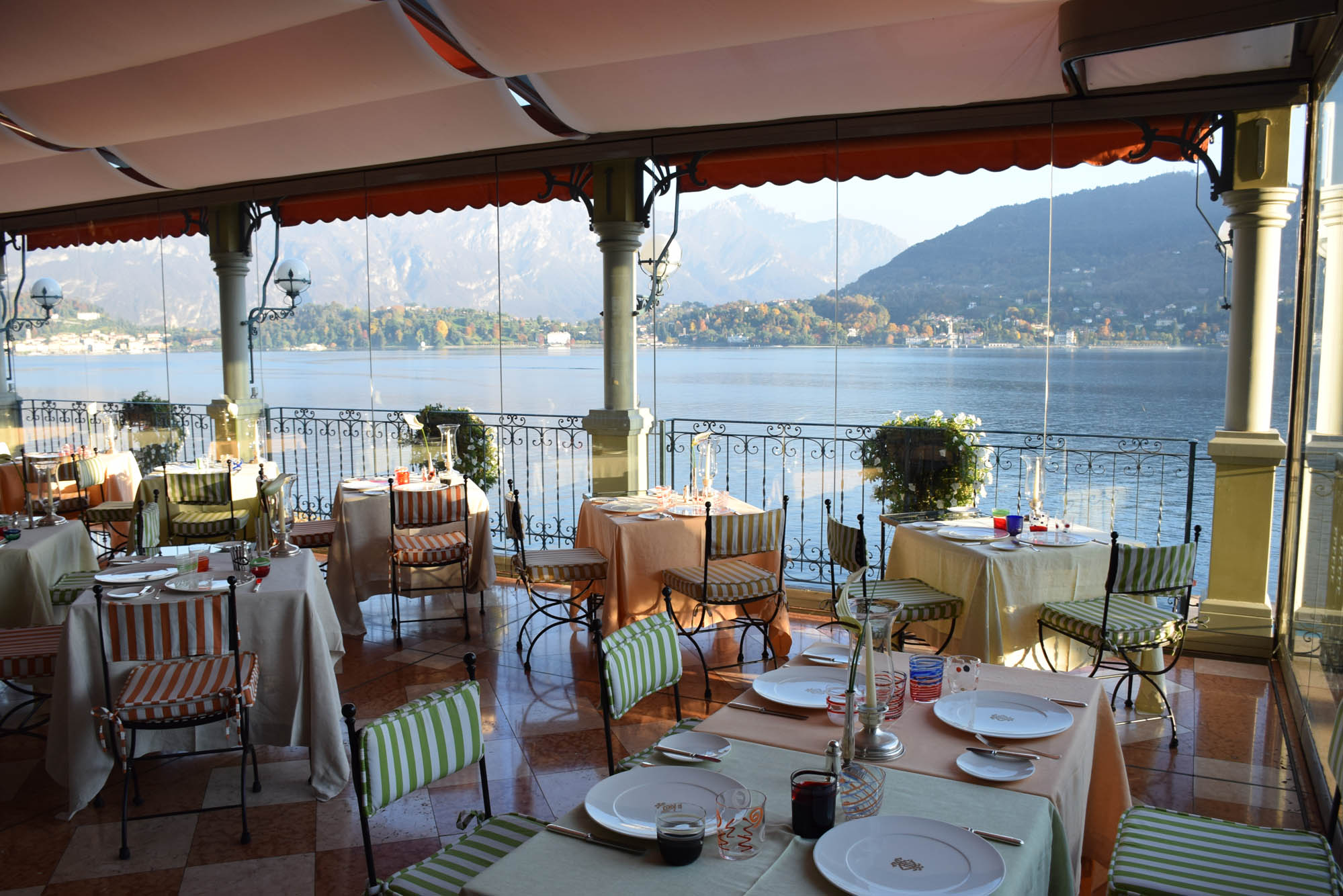 Ristorante La Terraza do Grand Hotel Tremezzo - Lago di Como - Itália