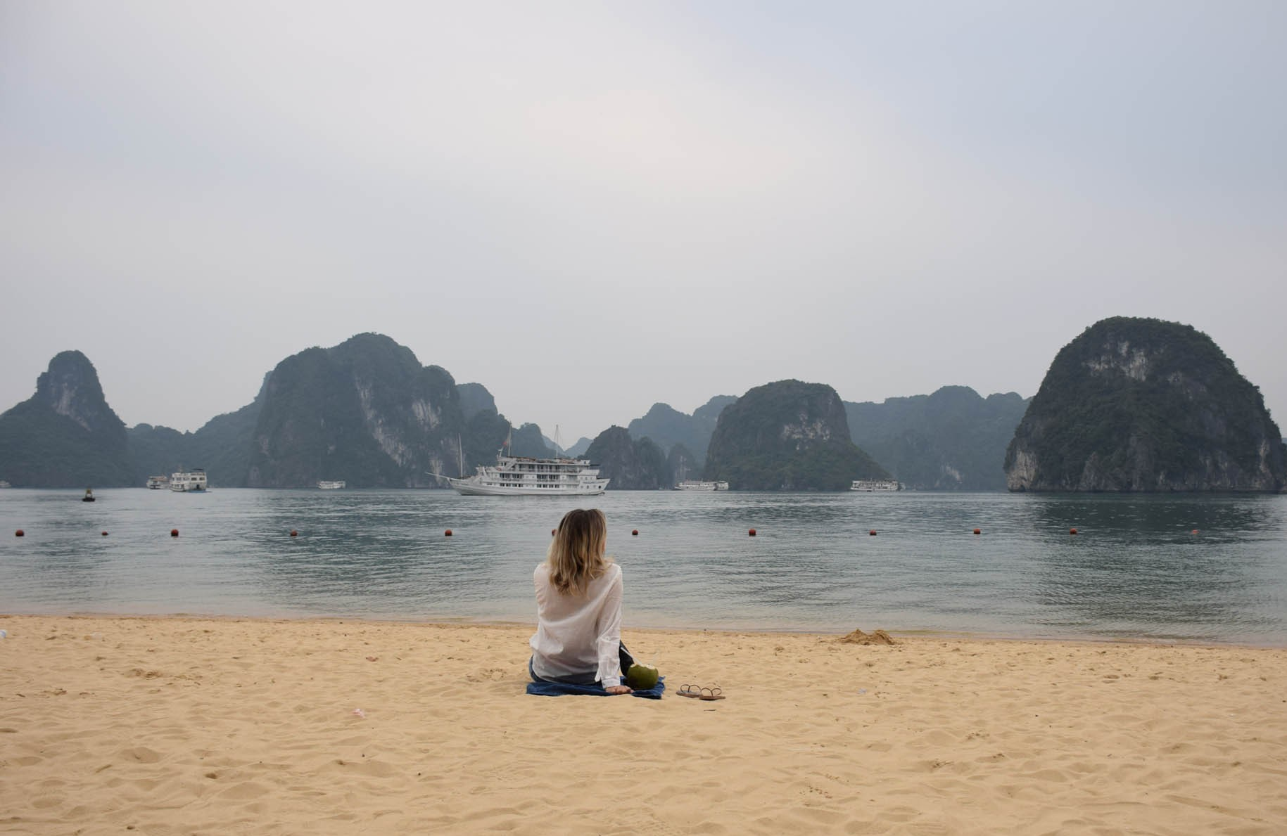 A praia da Ti Tôp Island. Bonita, mas gelaaaada!! No verão cairia bem!! :)
